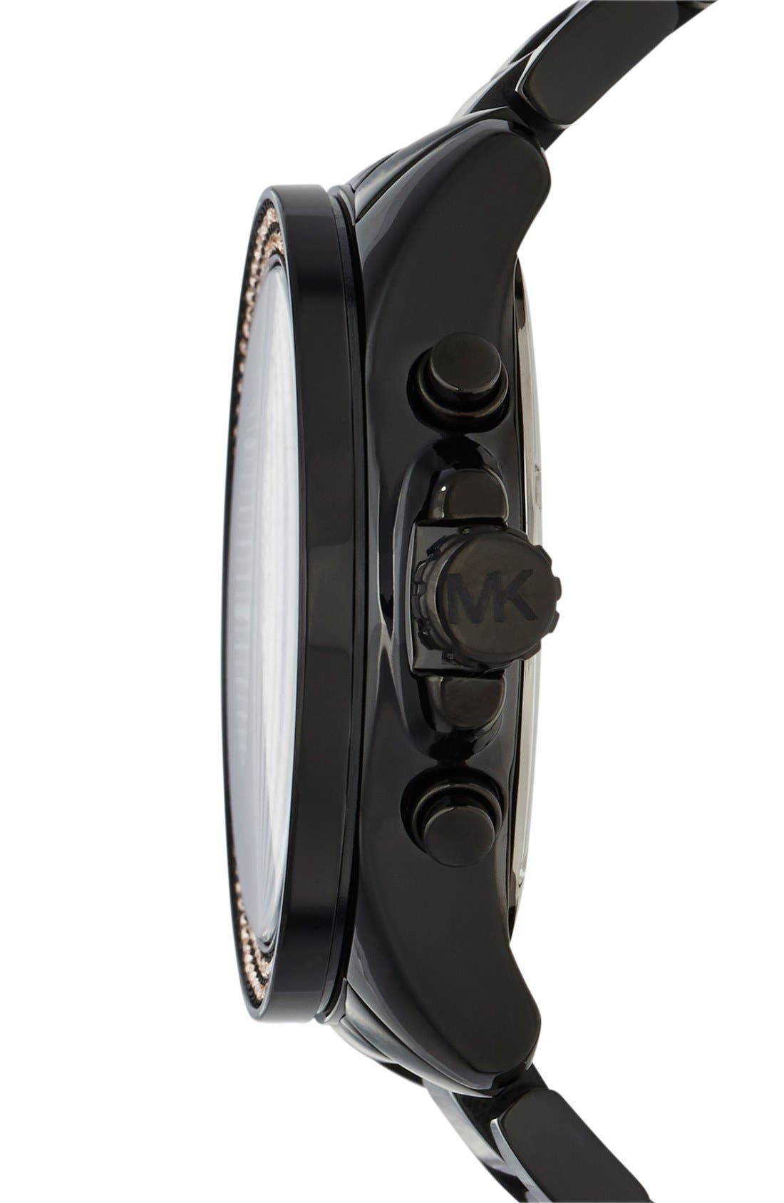 Alternate Image 3  - Michael Kors 'Wren' Pavé Dial Chronograph Bracelet Watch, 42mm