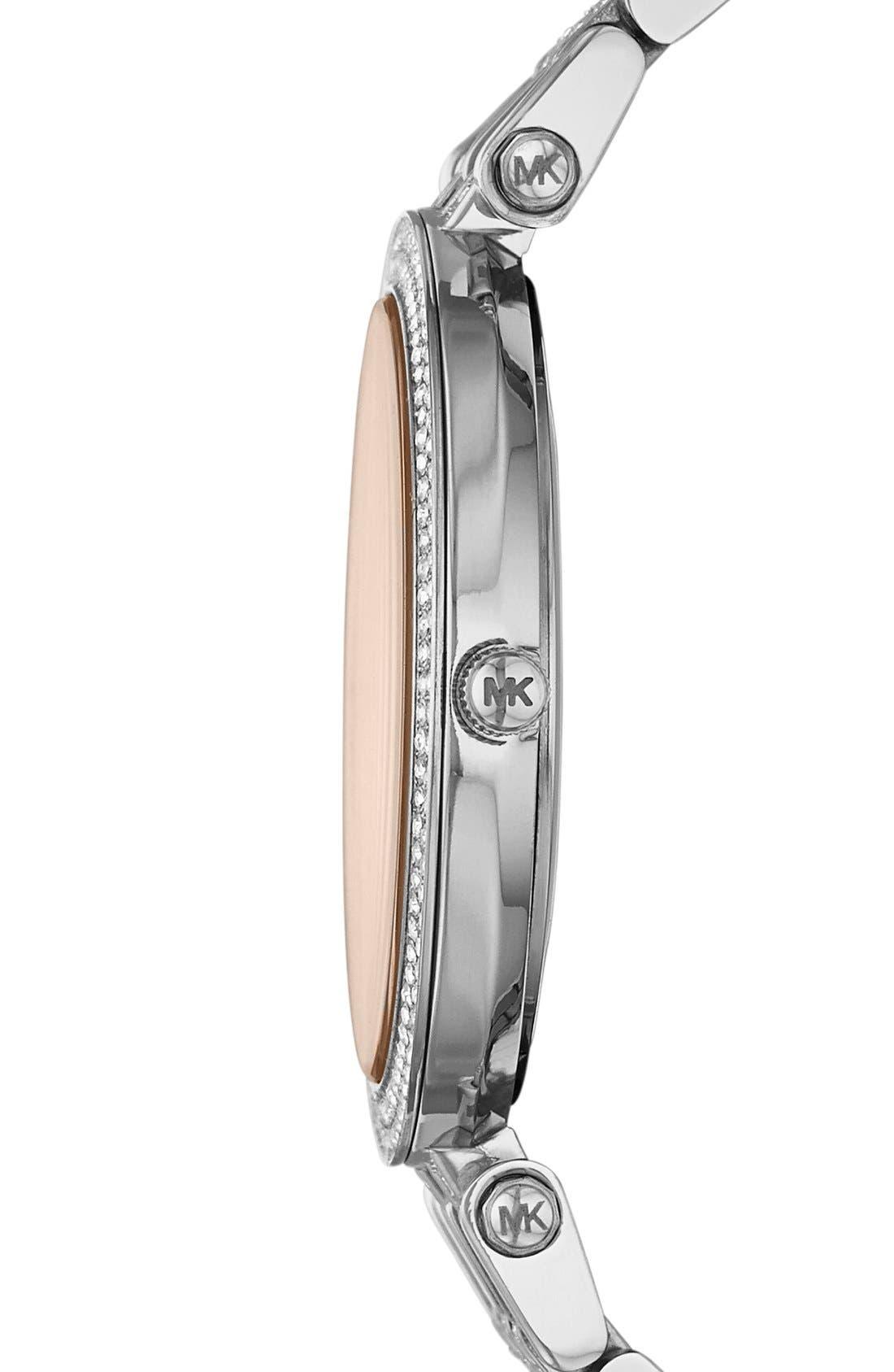 Alternate Image 3  - Michael Kors 'Darci' Crystal Bezel Bracelet Watch, 39mm