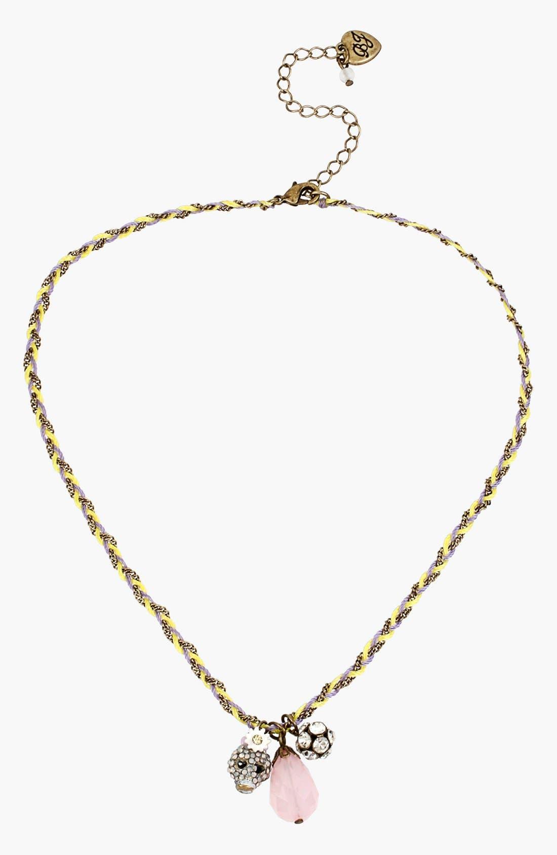 Main Image - Betsey Johnson 'Girlie Grunge' Cluster Pendant Necklace