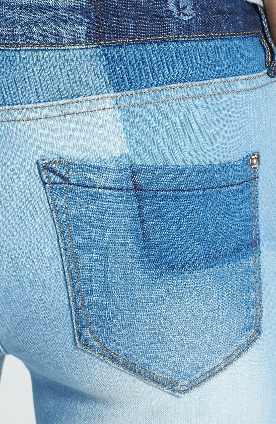 Alternate Image 3  - kensie 'Ankle Biter' Colorblock Skinny Jeans (Vintage Twister)