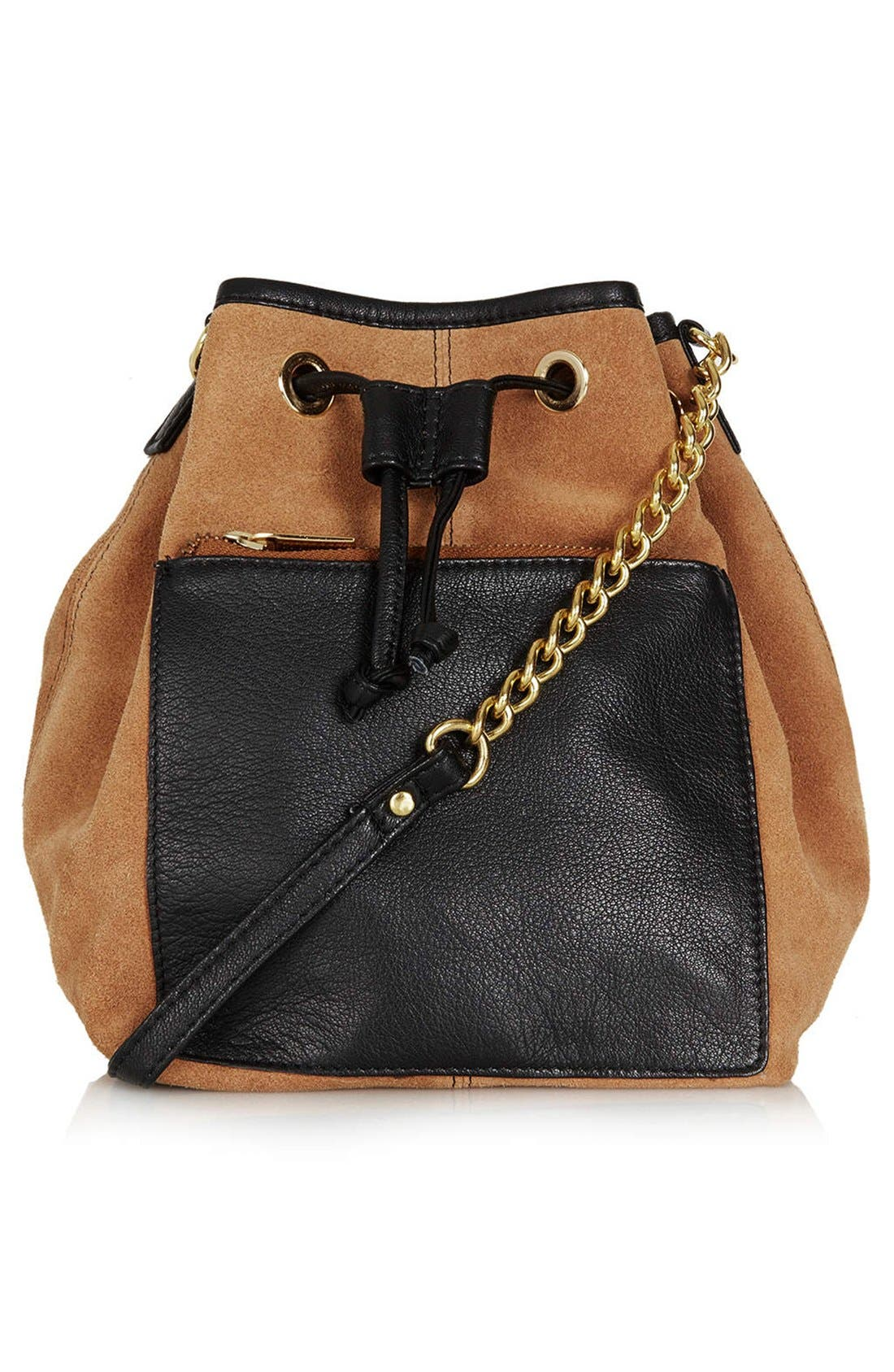 Main Image - Topshop Pouch Pocket Drawstring Bag