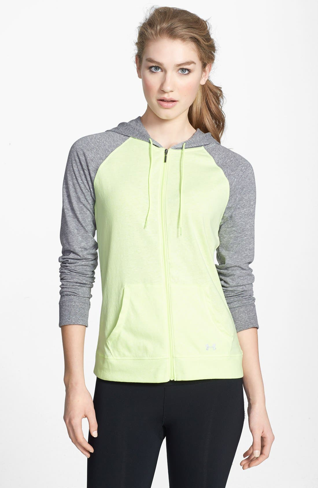 Alternate Image 1 Selected - Under Armour 'Legacy' Charged Cotton® Full Zip Hoodie