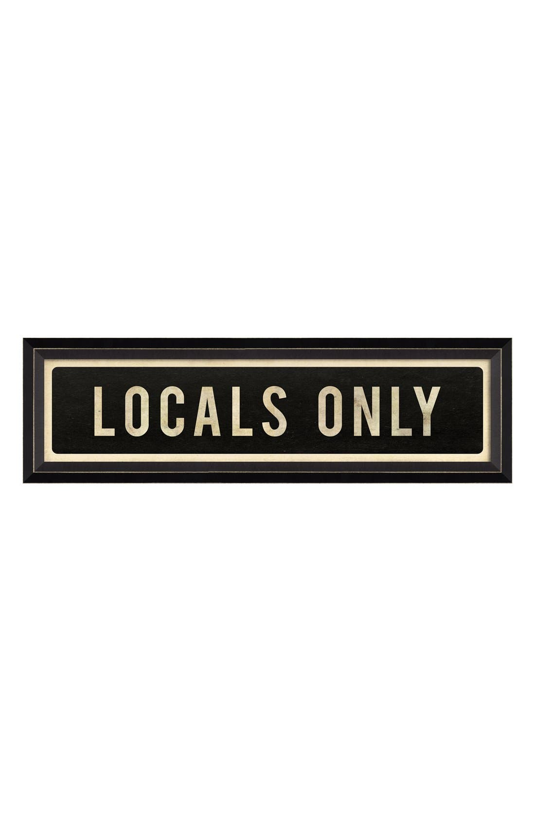 Main Image - Spicher and Company 'Locals Only' Vintage Look Street Sign Artwork
