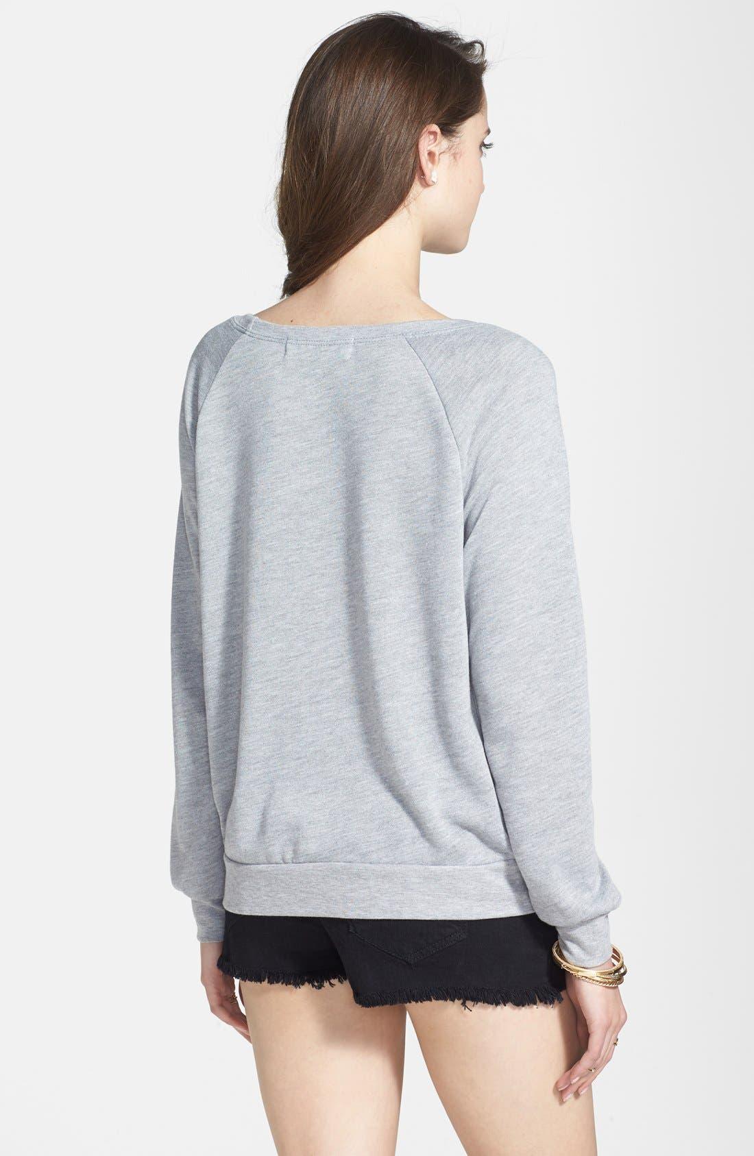 Alternate Image 2  - Project Social T 'Eat. Shop. Sleep. Repeat.' Sweatshirt (Juniors)