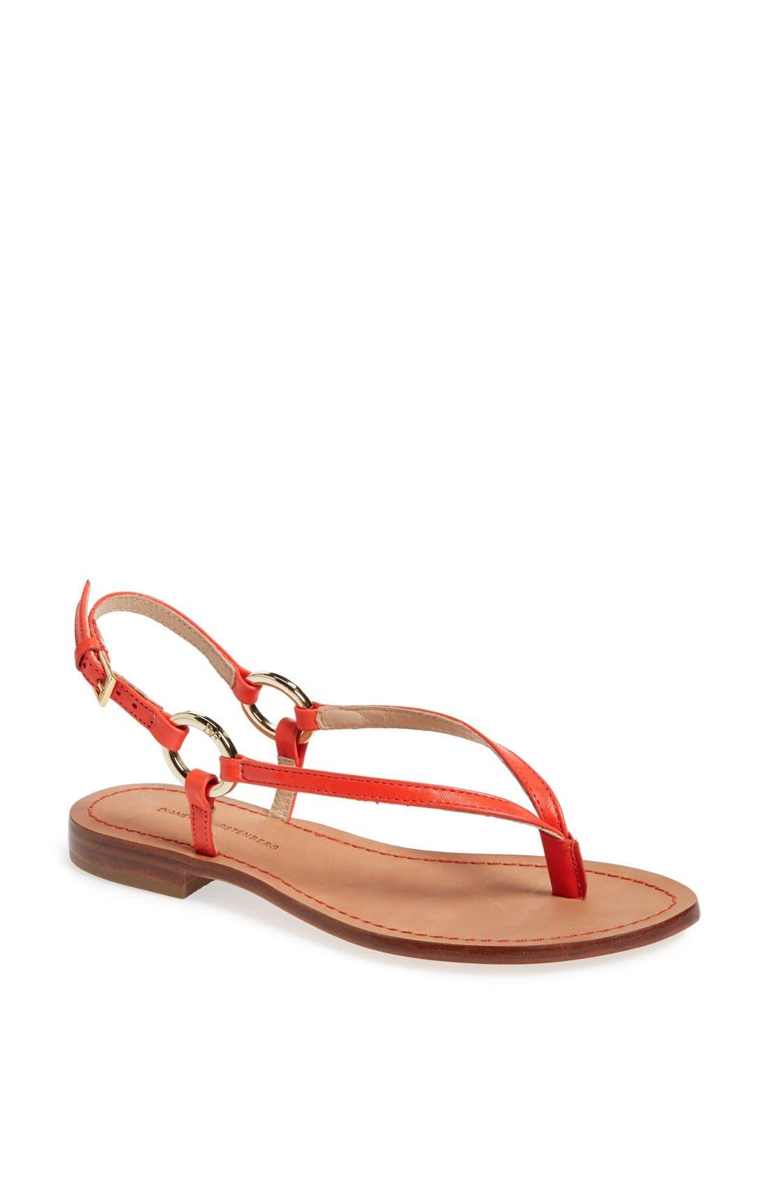 Alternate Image 1 Selected - Diane von Furstenberg 'Cailin' Thong Sandal