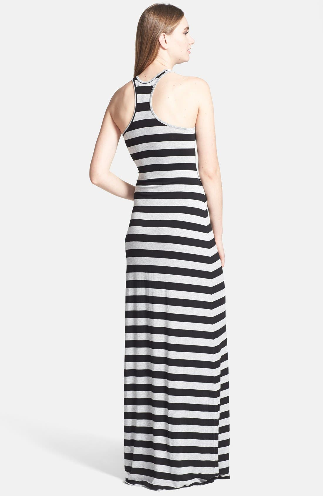 Alternate Image 2  - Feel the Piece Racerback Stripe Maxi Dress