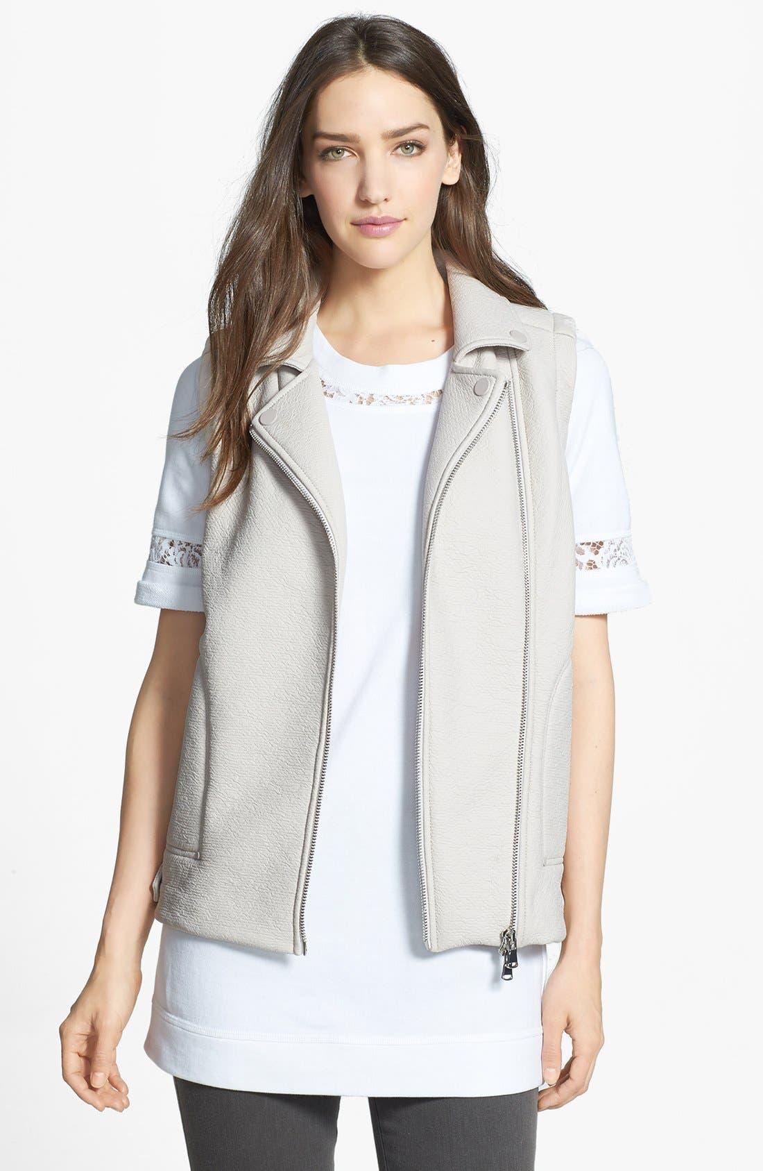 Main Image - Rebecca Taylor Rubberized Asymmetrical Vest