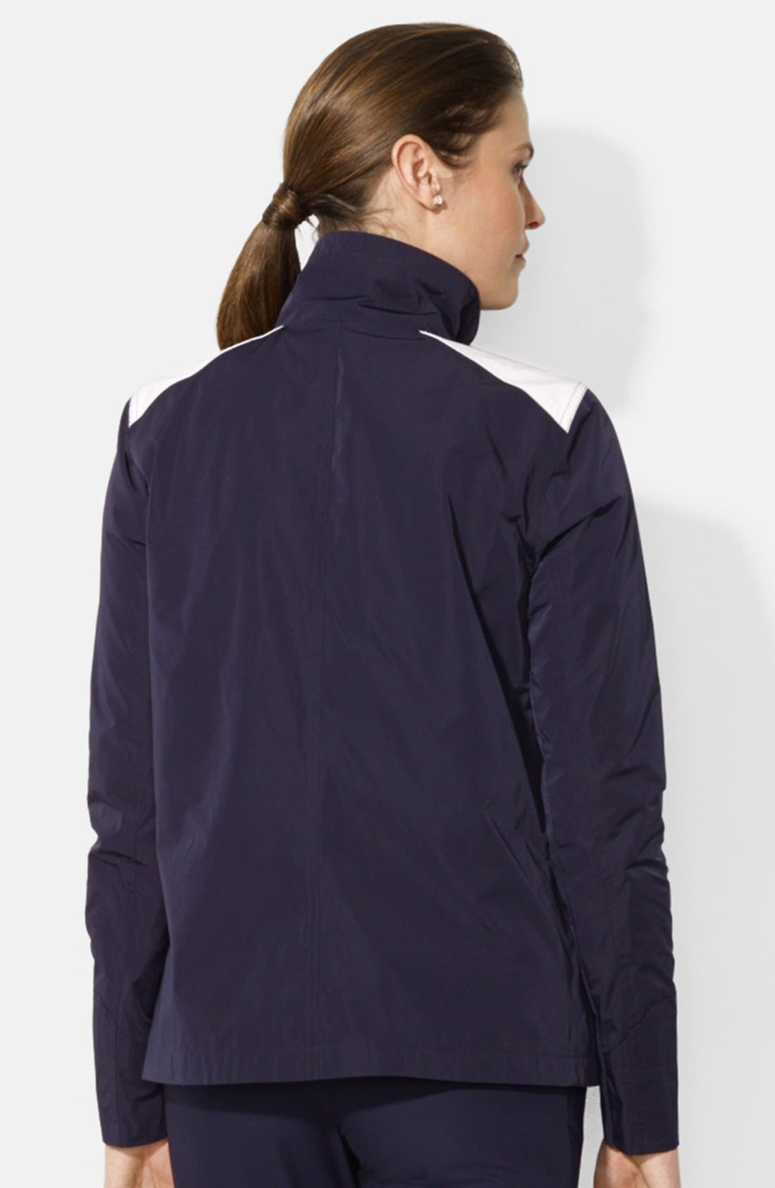 Alternate Image 2  - Lauren Ralph Lauren Clasp Closure Stand Collar Jacket