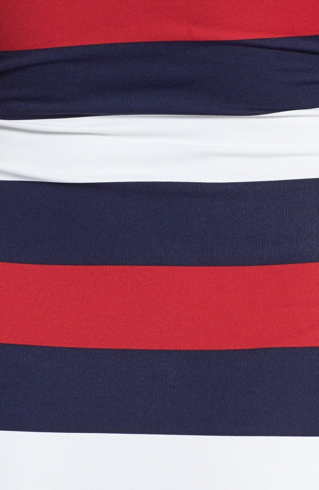 Alternate Image 3  - Tommy Bahama 'Rugby Stripe' Shirred Bandeau One-Piece Swimsuit