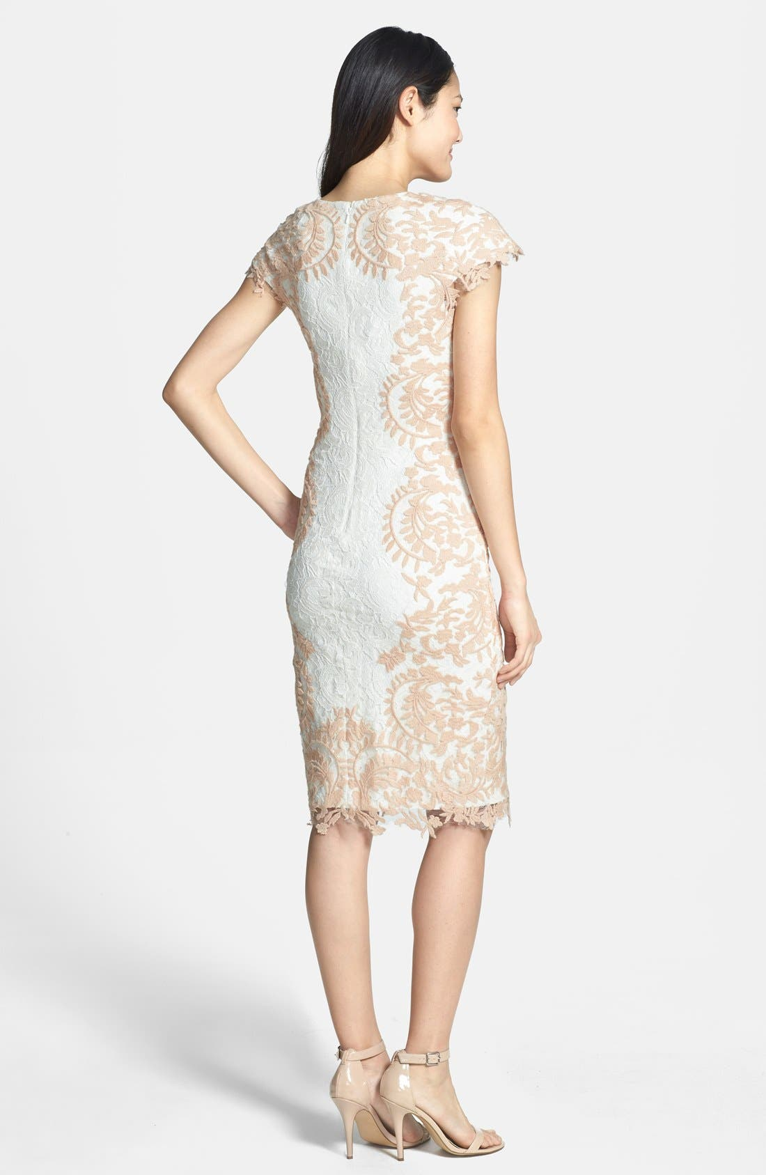 Alternate Image 2  - Tadashi Shoji Embroidered Detail Lace Sheath Dress