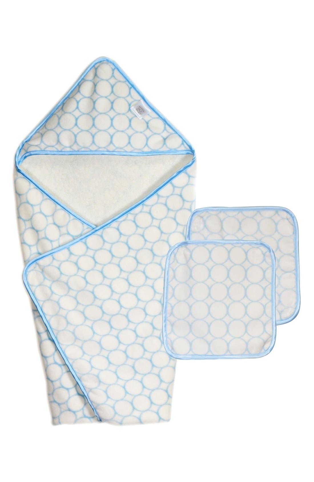Alternate Image 1 Selected - Swaddle Designs Organic Turkish Cotton Hooded Towel & Washcloths