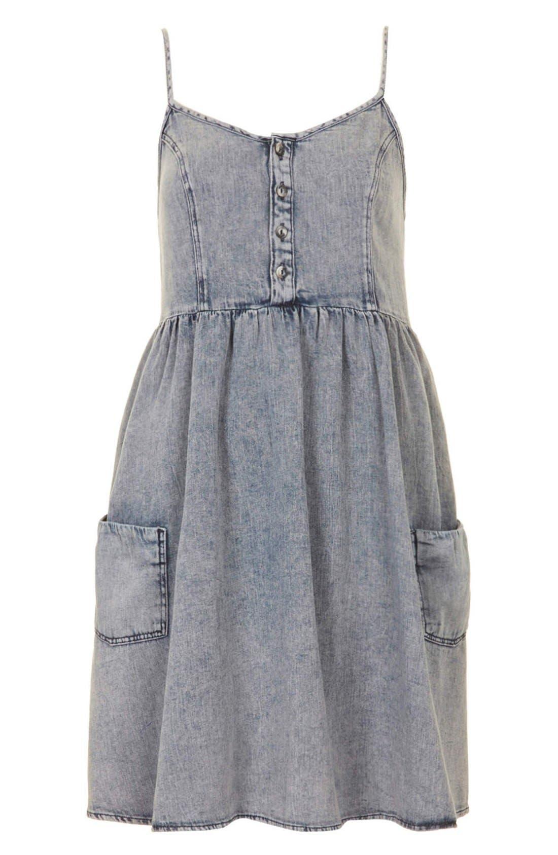 Alternate Image 3  - Topshop Moto Denim Babydoll Dress