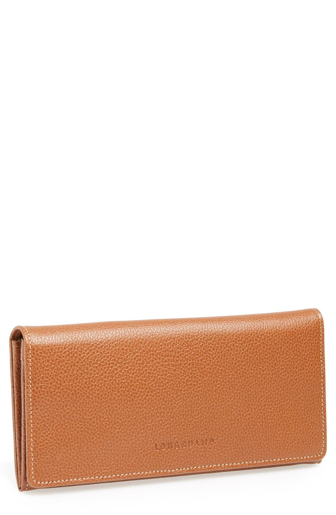 Longchamp 'Veau' Continental Wallet
