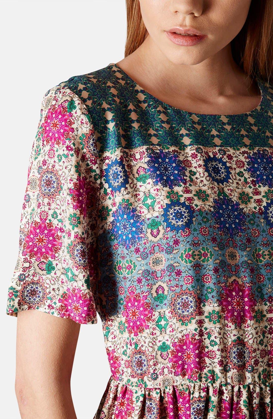 Alternate Image 4  - Topshop 'Folk Border' Print Day Dress
