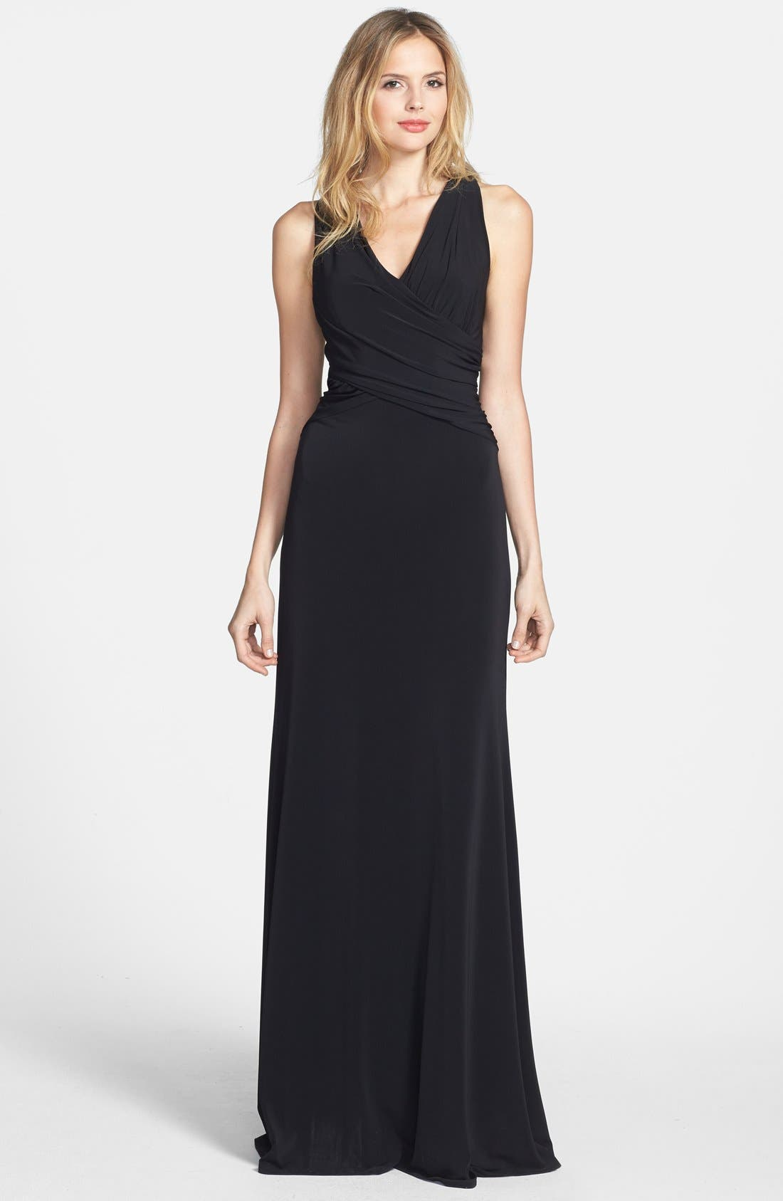 Main Image - Vera Wang Open Back Long Jersey Dress
