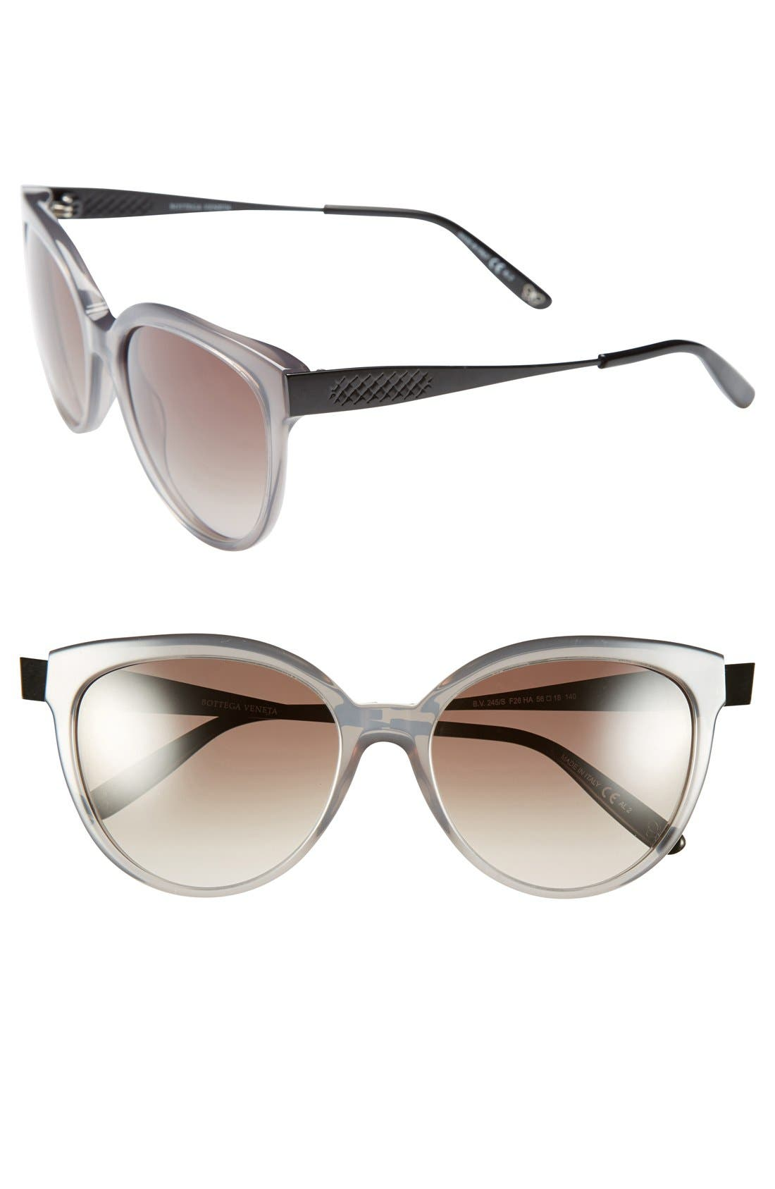 Alternate Image 1 Selected - Bottega Veneta 56mm Retro Sunglasses