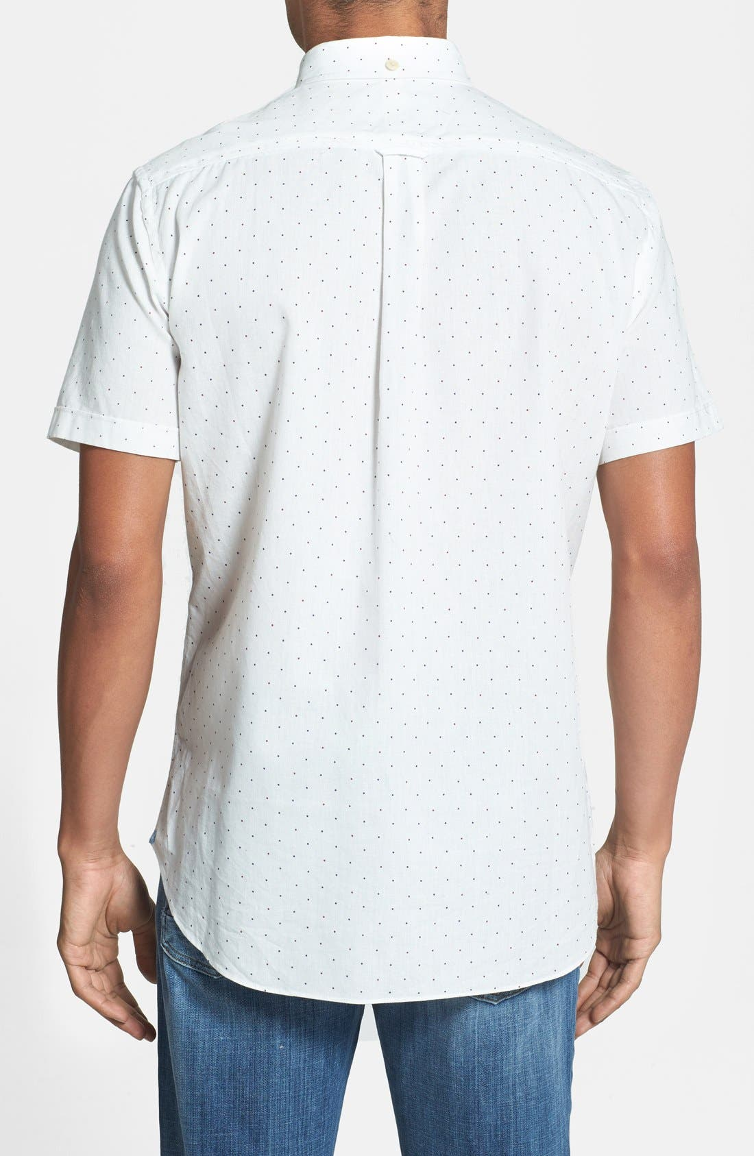 Alternate Image 2  - Haspel 'Rampart' Slim Fit Dot Short Sleeve Sport Shirt