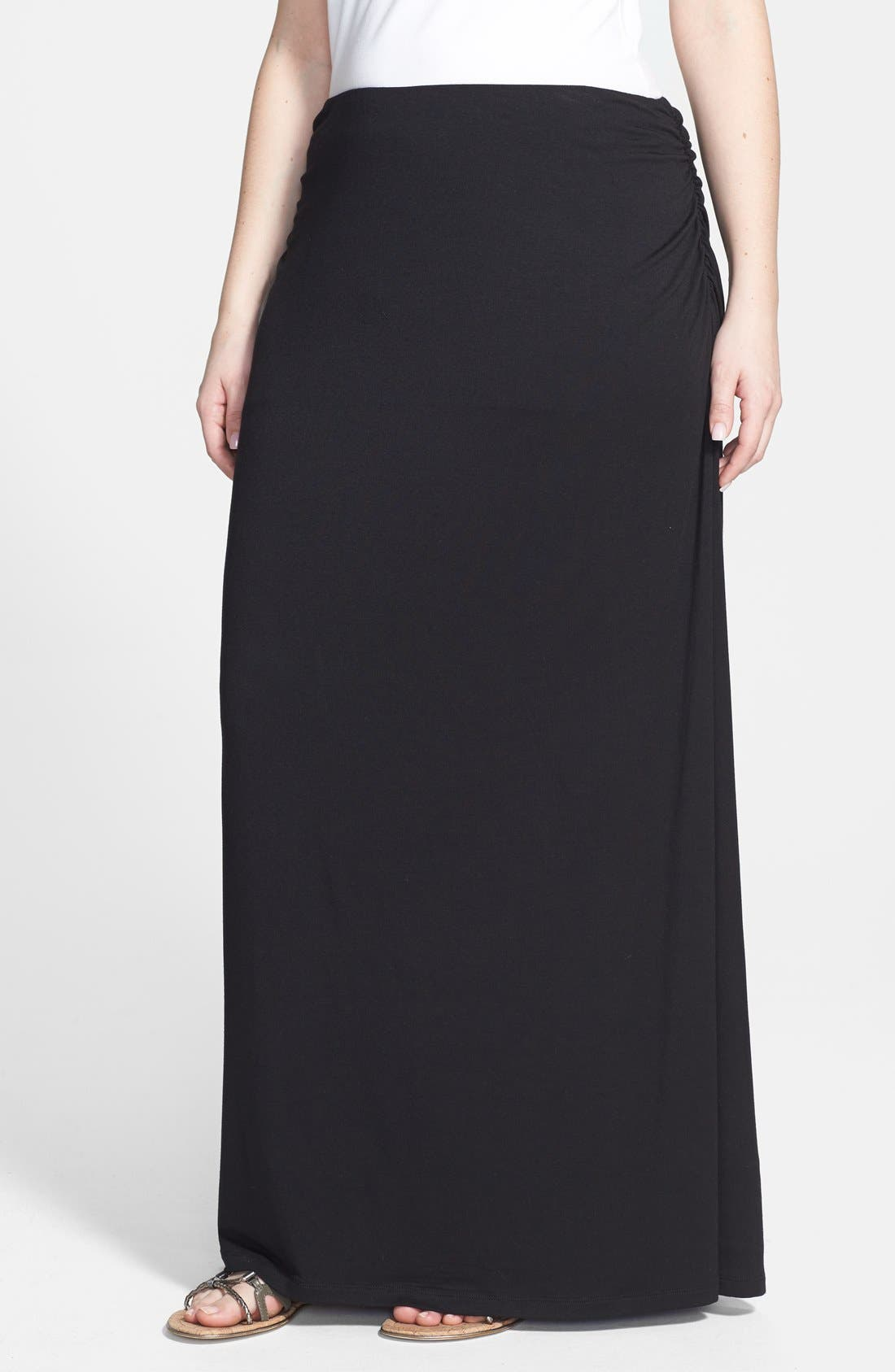 Alternate Image 1 Selected - Caslon® Convertible Maxi Skirt (Plus Size)