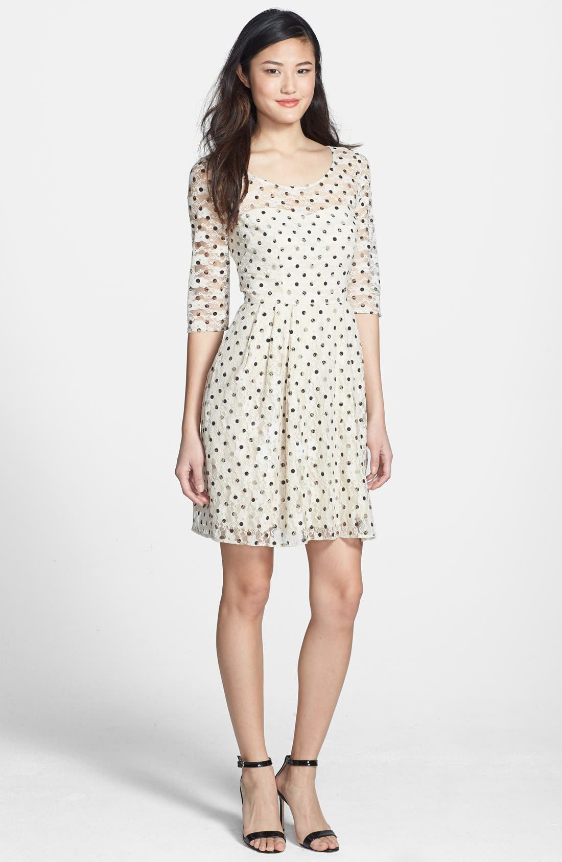 Alternate Image 3  - Betsey Johnson Lace Dot Fit & Flare Dress