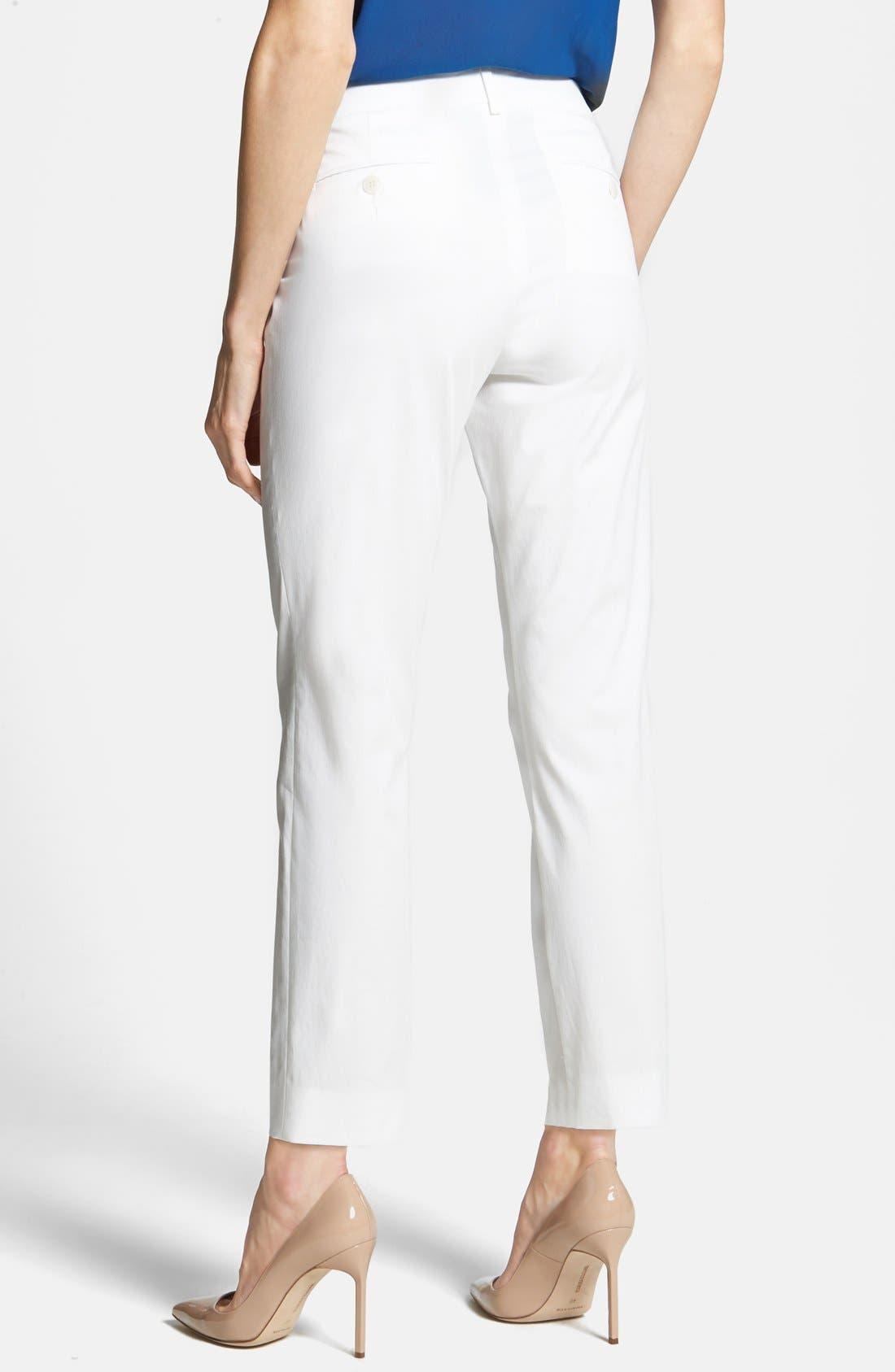 Alternate Image 2  - Weekend Max Mara Stretch Cotton Ankle Pants