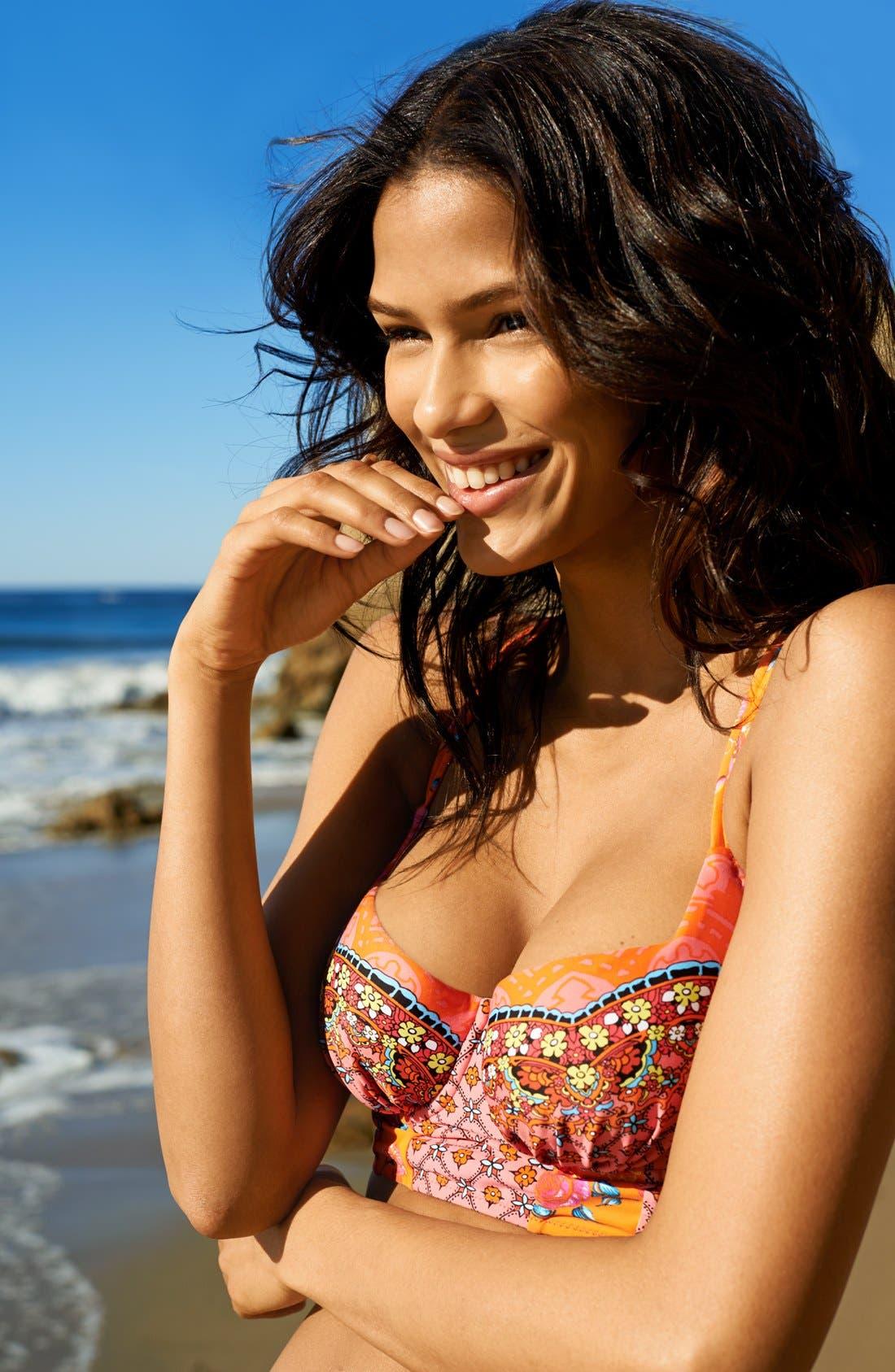 Alternate Image 8  - Blush by Profile 'Anastasia' Underwire Bustier Bikini Top