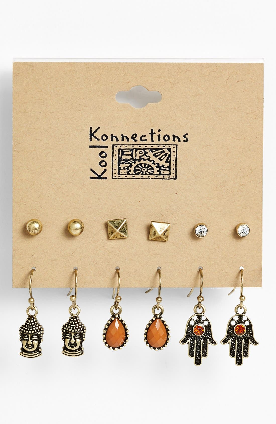 Alternate Image 1 Selected - Orion Mixed Stud Earrings (Set of 12)