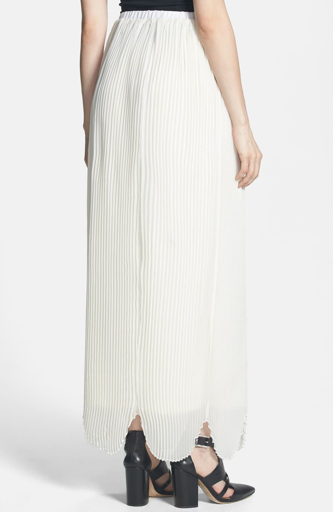 Alternate Image 2  - Rules of Etiquette 'Olivia' Pleated Maxi Skirt
