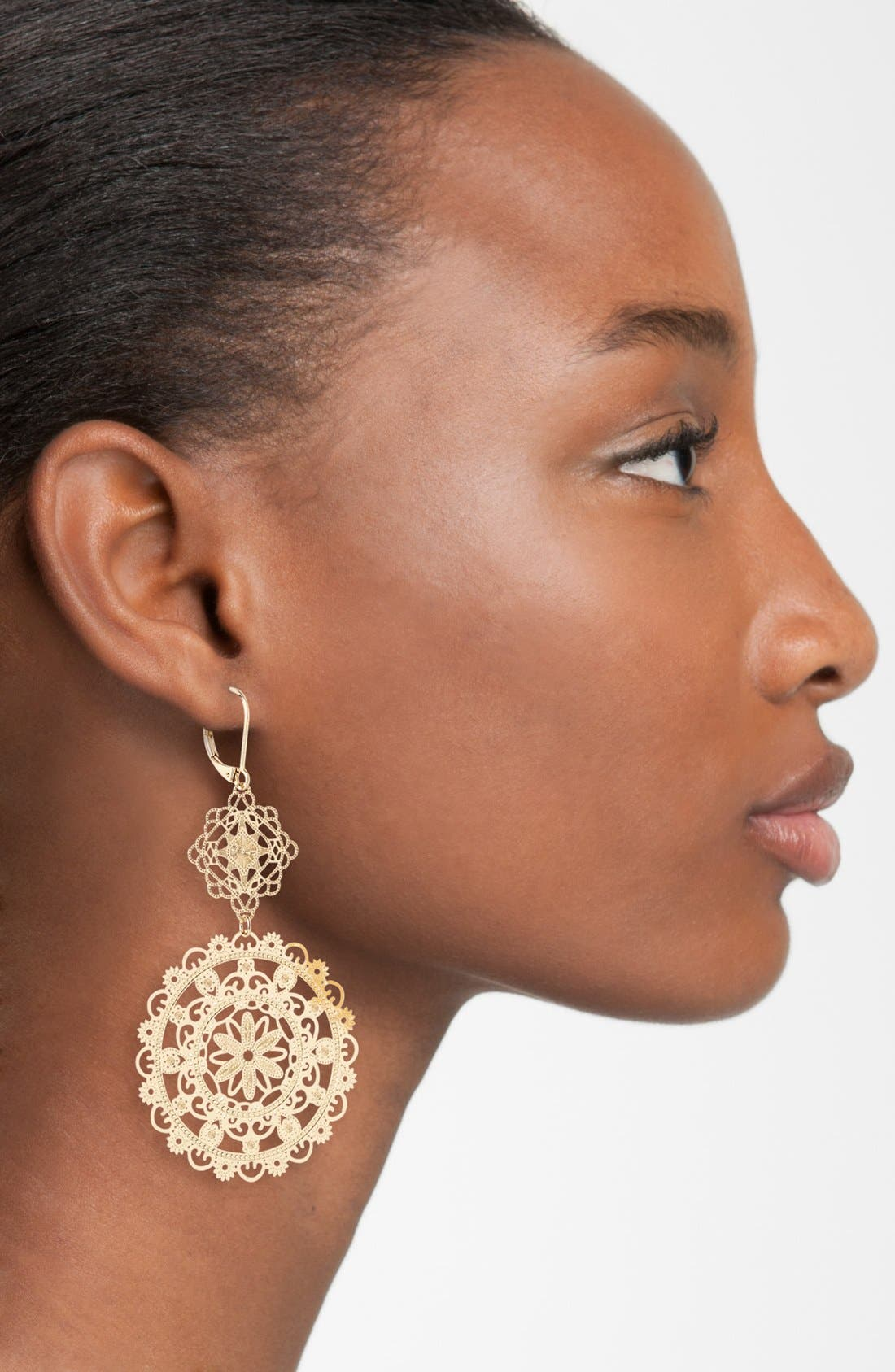 Alternate Image 2  - Nordstrom 'Delicate Lace' Double Drop Earrings