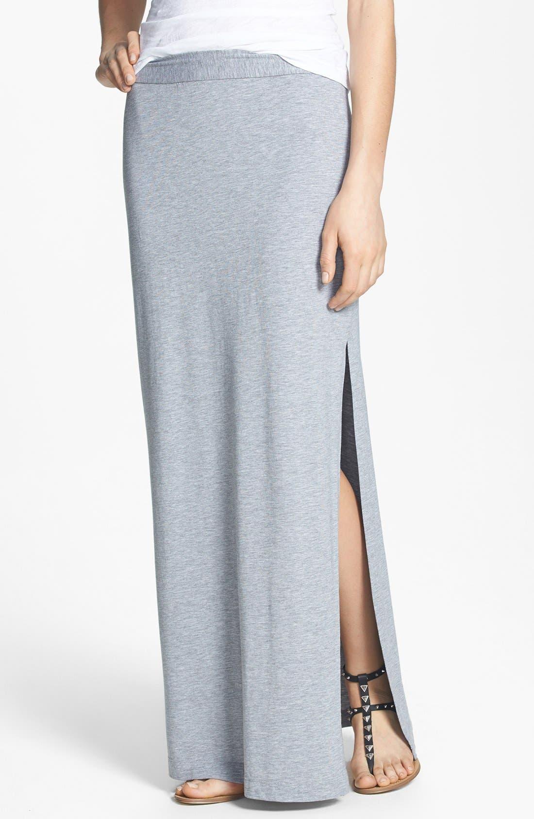 Alternate Image 1 Selected - Splendid Side Slit Maxi Skirt