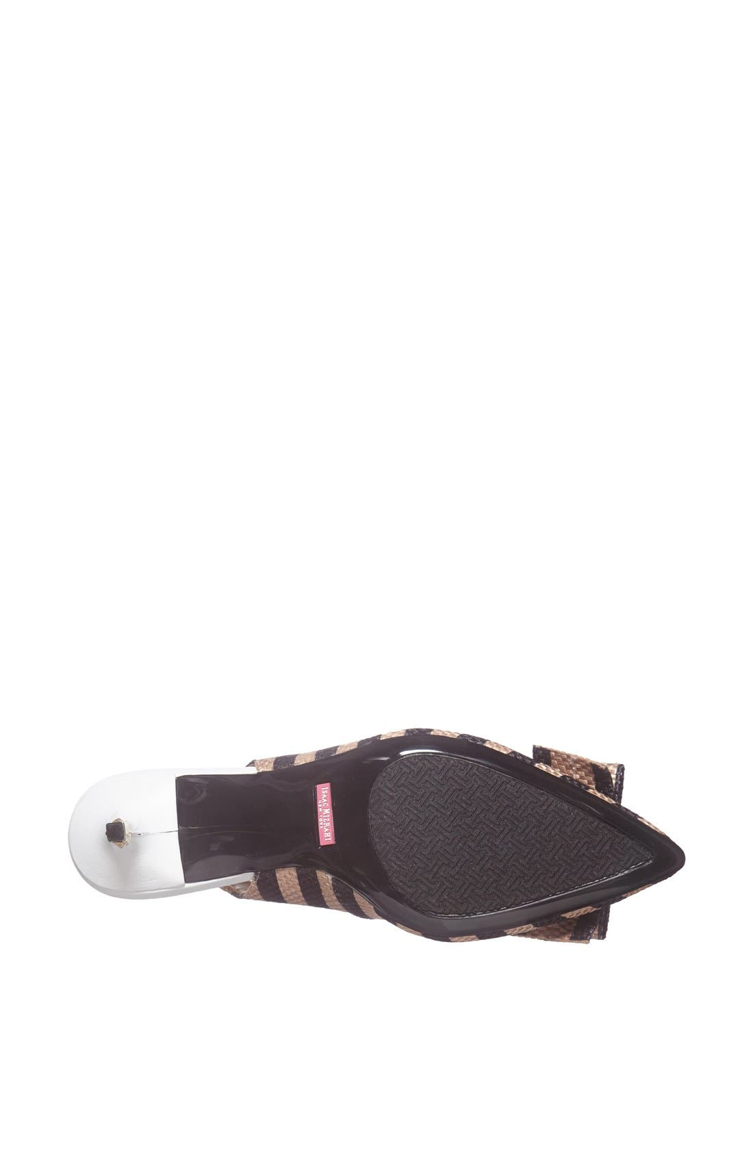 Alternate Image 4  - Isaac Mizrahi New York 'Mindy' Stripe Slingback Pump