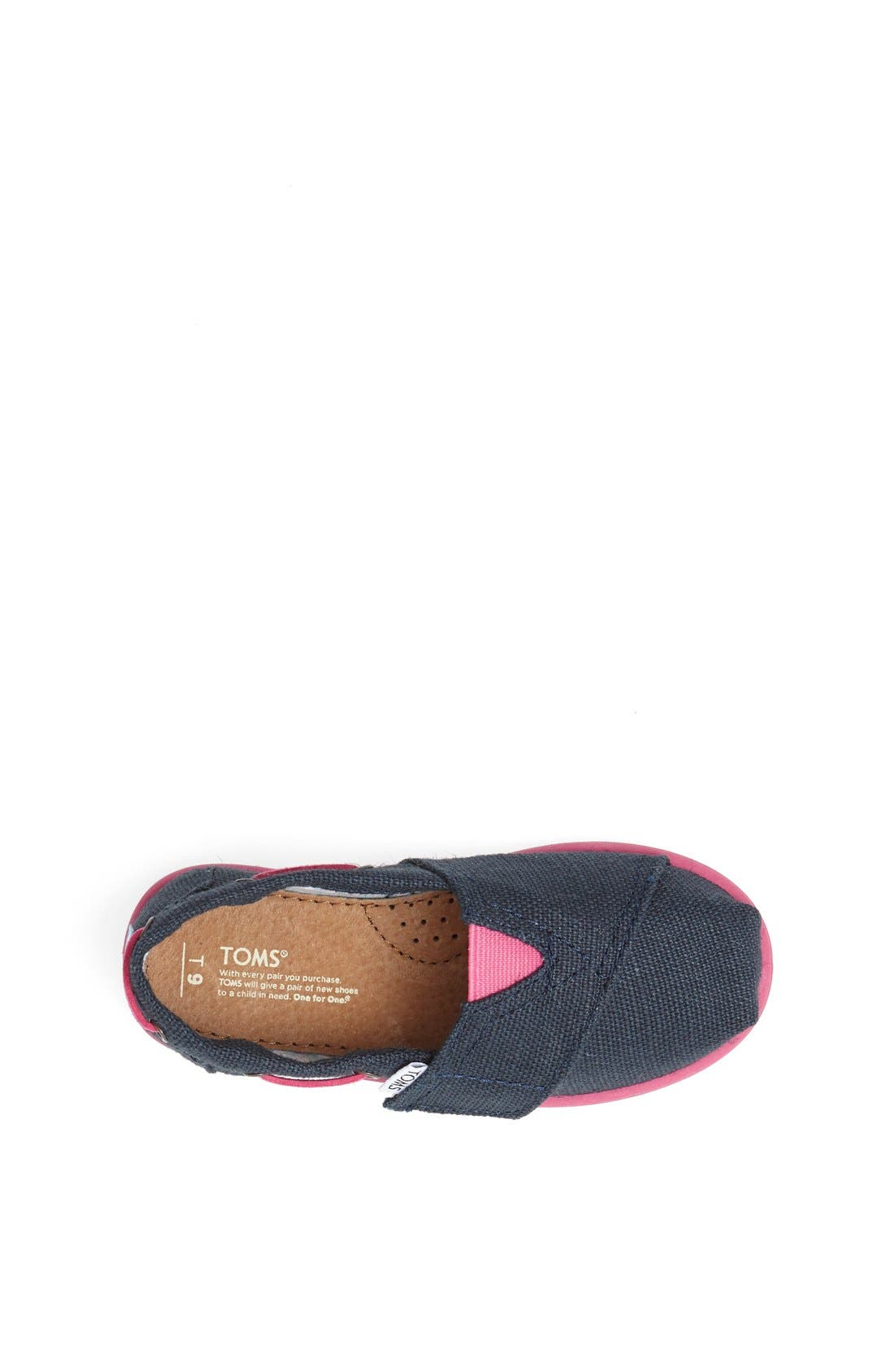 Alternate Image 3  - TOMS 'Classic Tiny - Burlap Bimini' Slip-On (Baby, Walker & Toddler)(Nordstrom Exclusive Color)