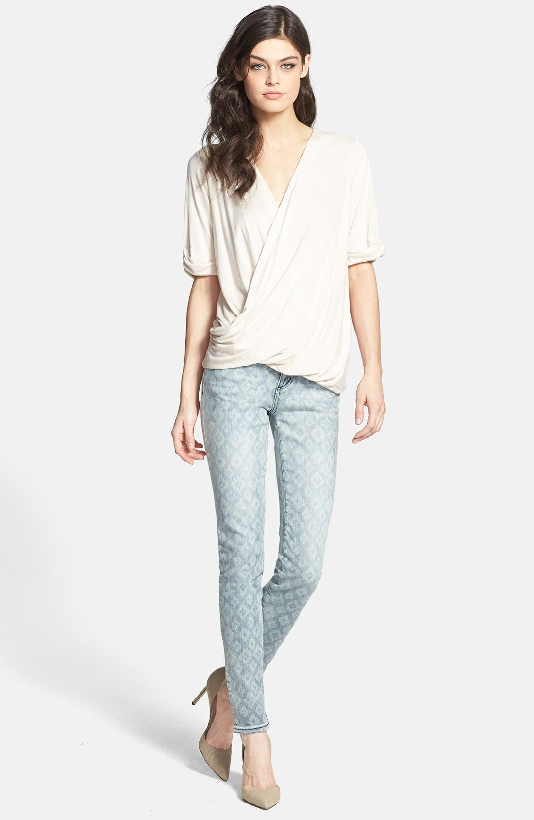 Alternate Image 4  - KUT from the Kloth 'Mia' Print Stretch Skinny Jeans (Young)
