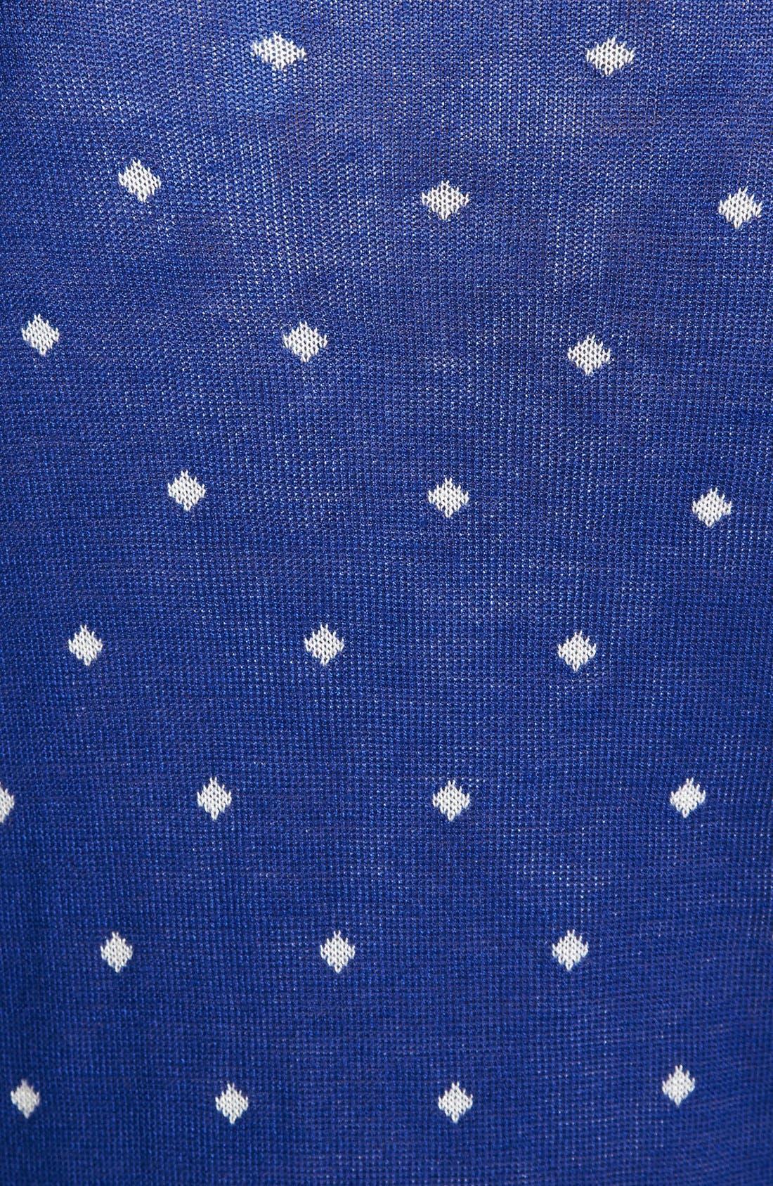 Alternate Image 3  - kensie Diamond Pattern Crewneck Sweater with Shirttail Hem