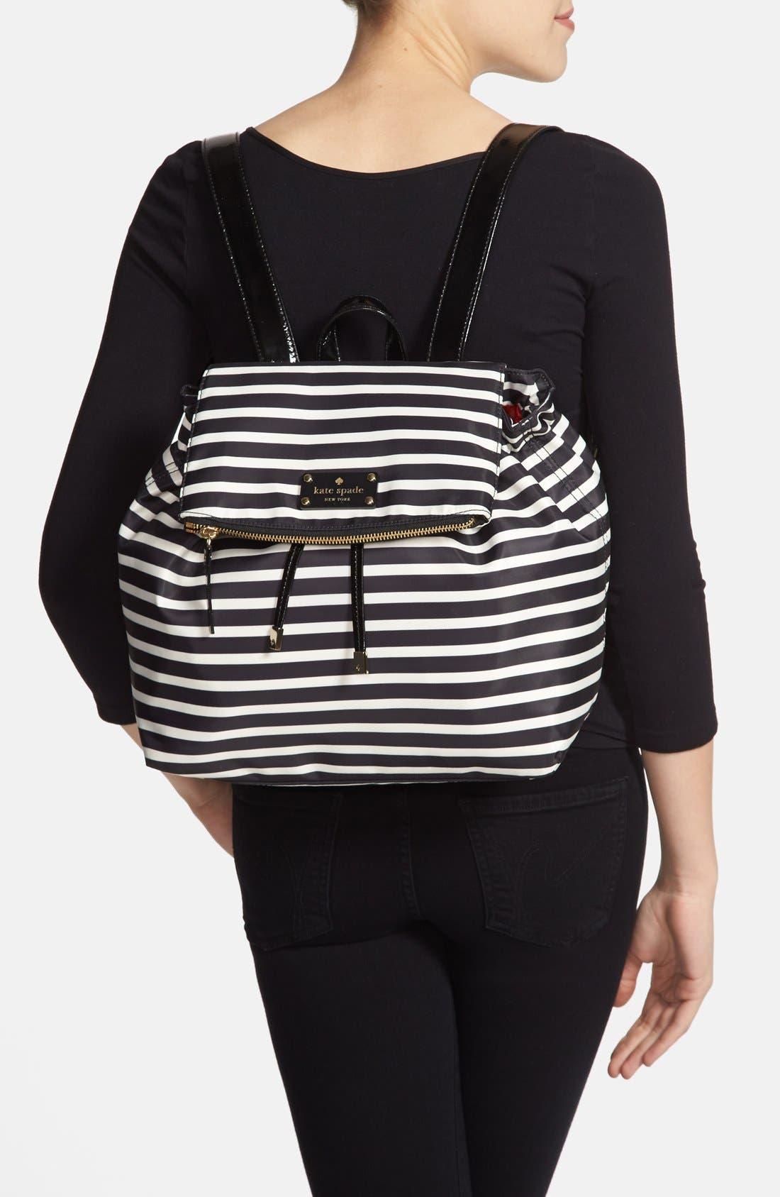 Alternate Image 2  - kate spade new york 'pattern' stripe backpack