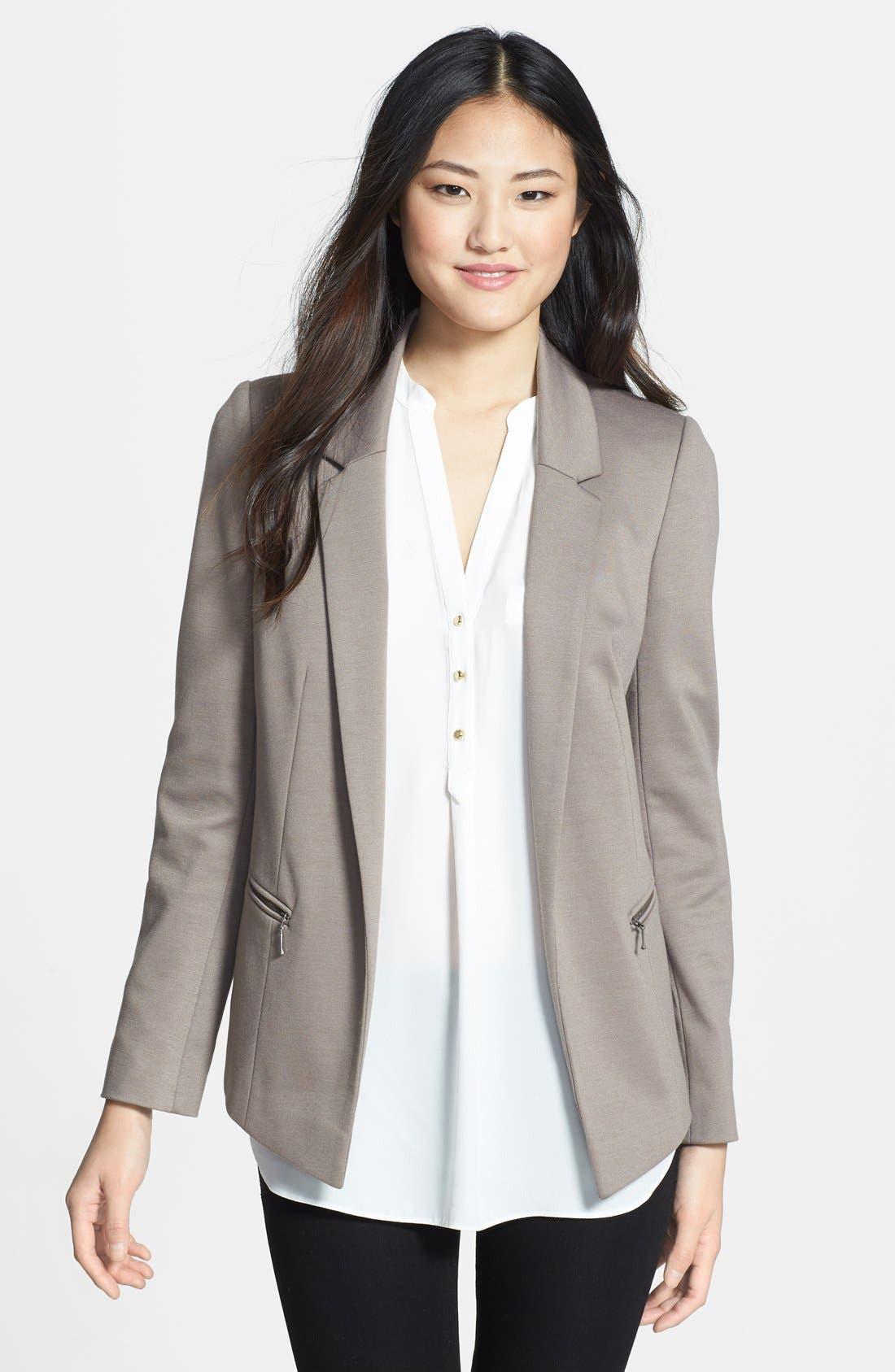 Alternate Image 1 Selected - wallis Zip Pocket Ponte Jacket
