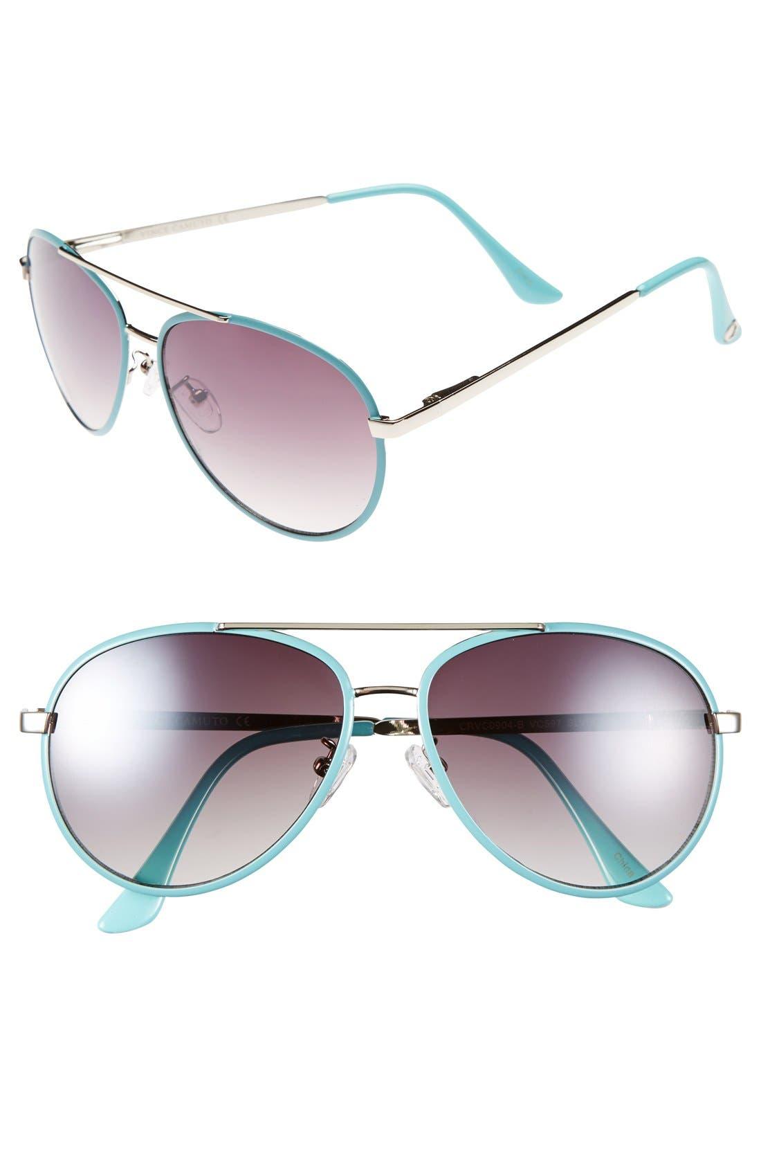 Alternate Image 1 Selected - Vince Camuto 58mm Aviator Sunglasses