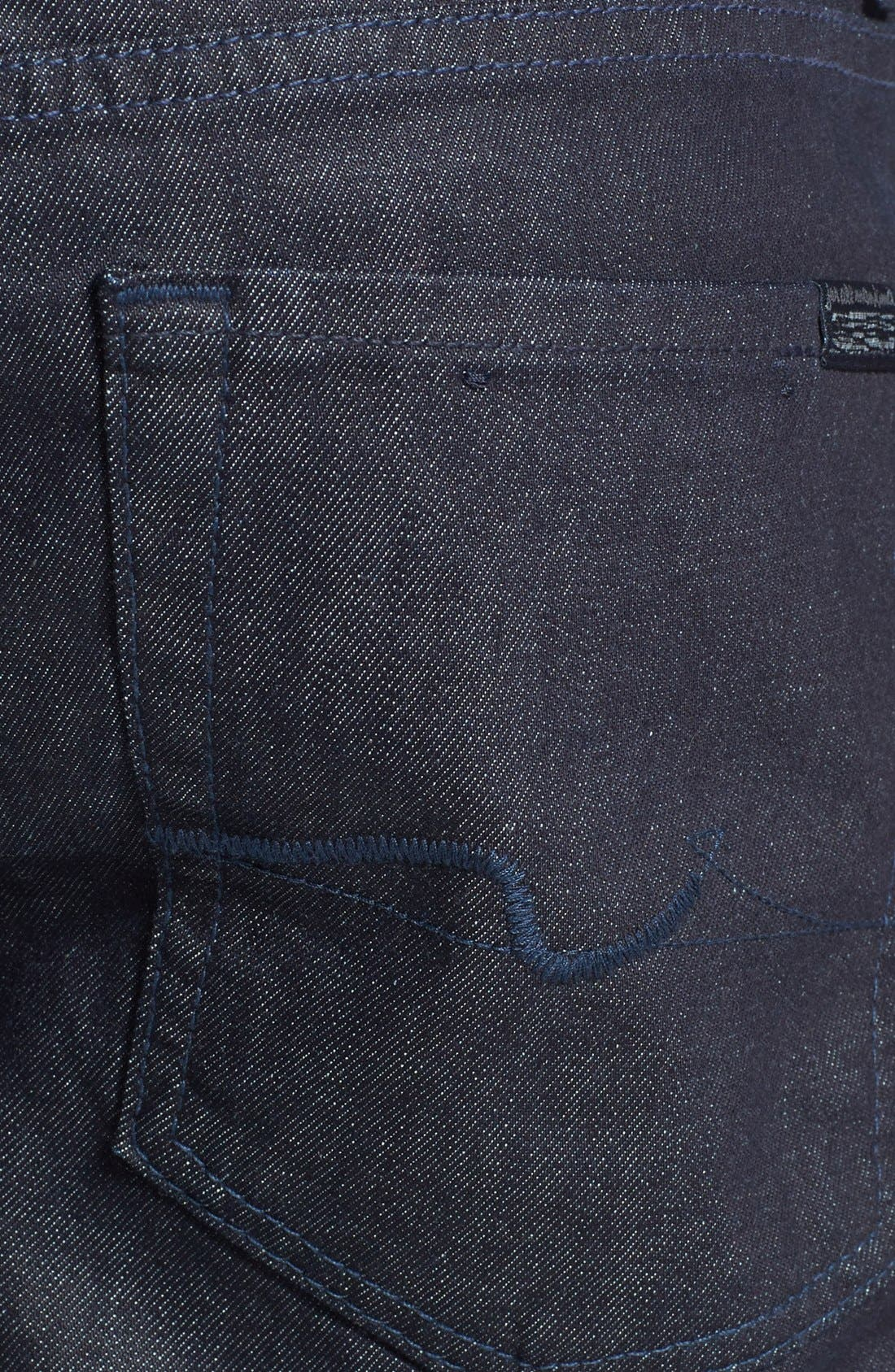 Alternate Image 4  - 7 For All Mankind® 'Standard' Straight Leg Jeans (Deep Indigo)