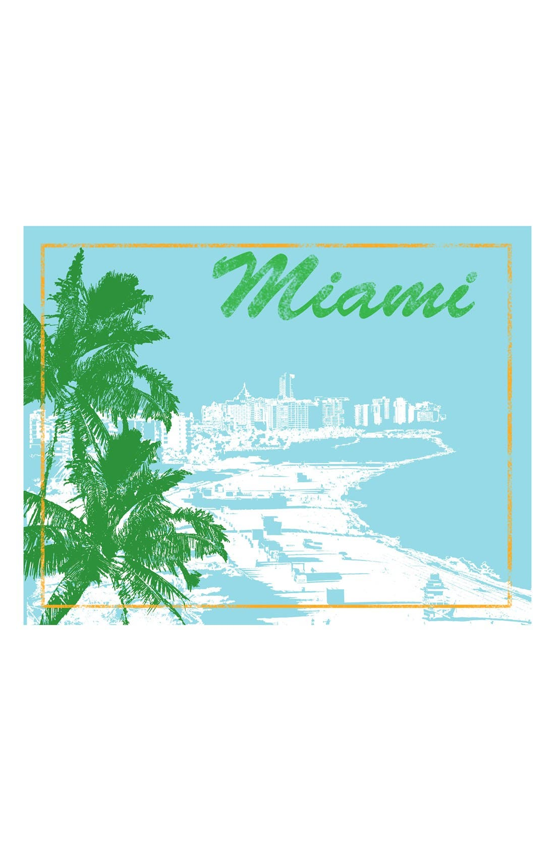Main Image - Green Leaf Art 'Miami' Wall Art