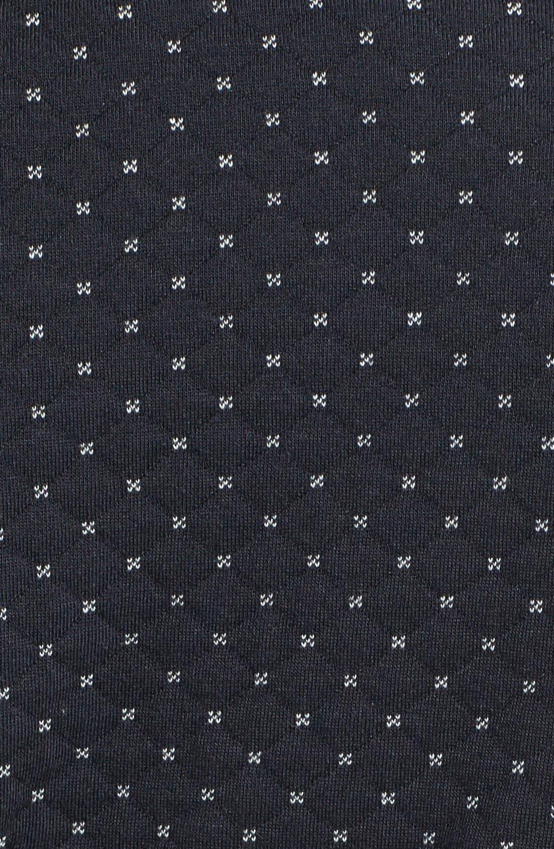 Alternate Image 3  - Caslon® Quilted Print Knit Jacket (Petite)