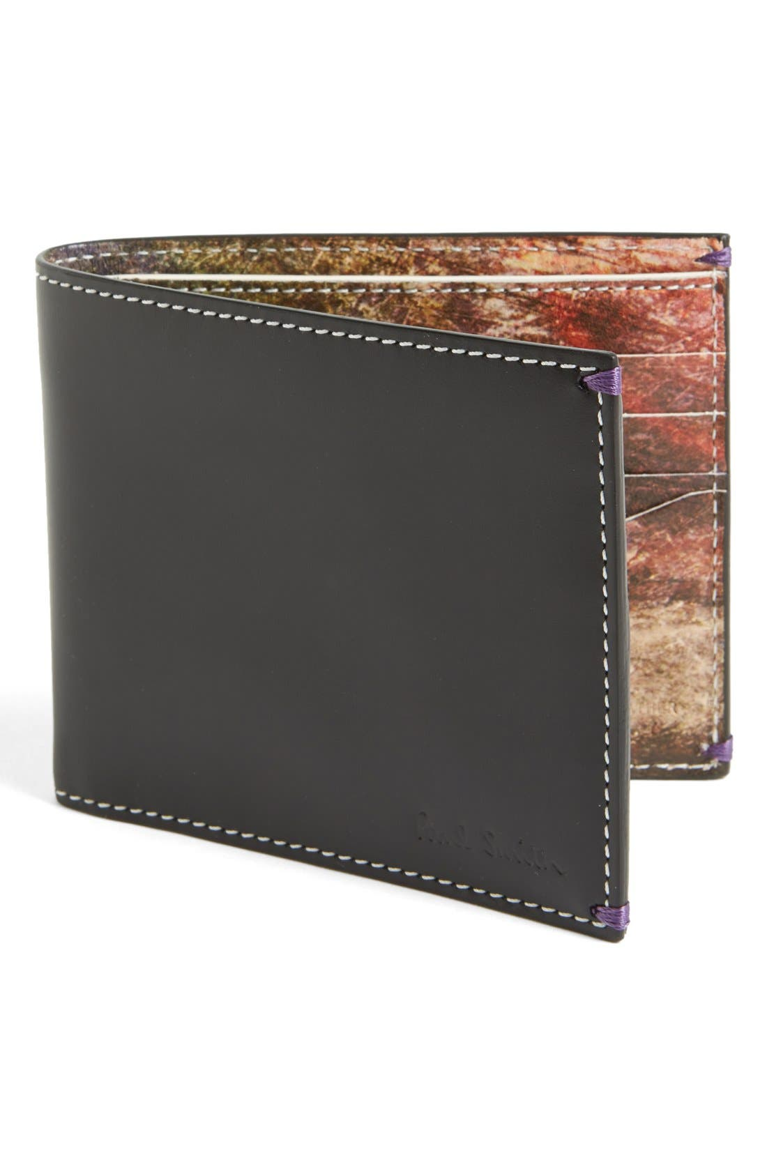 Alternate Image 1 Selected - Paul Smith Car Print Leather Wallet