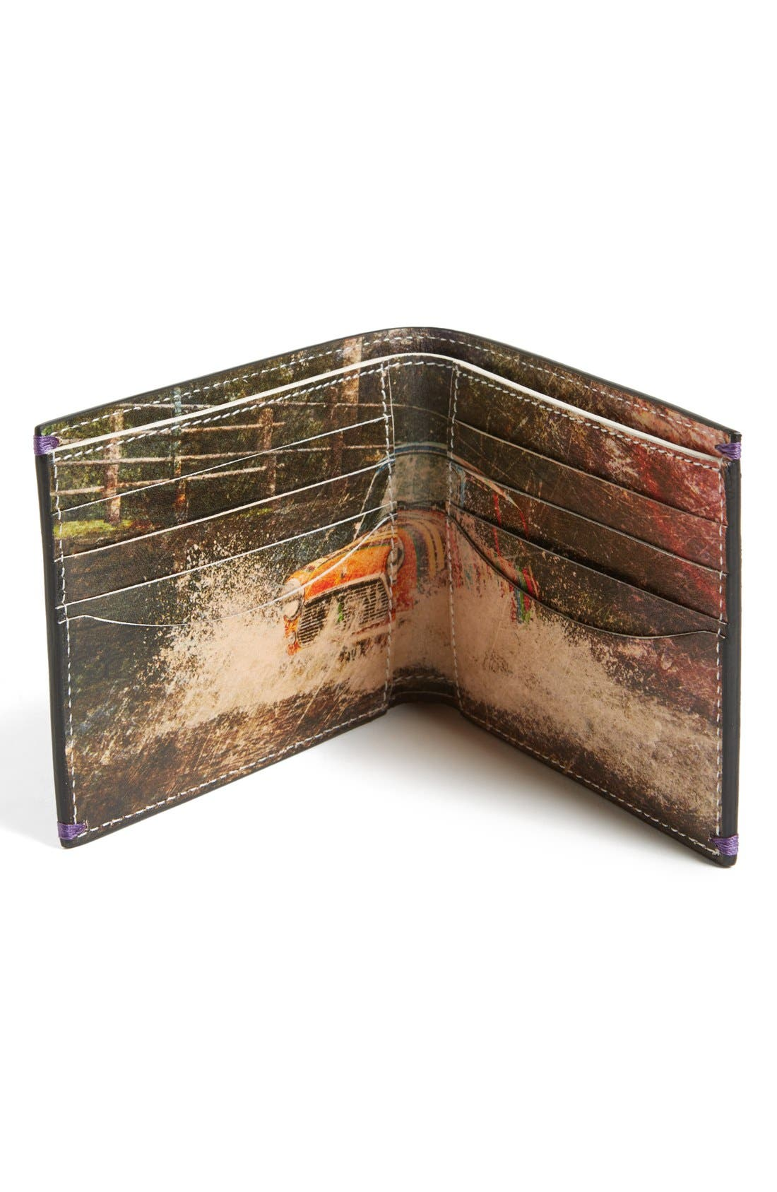 Alternate Image 2  - Paul Smith Car Print Leather Wallet