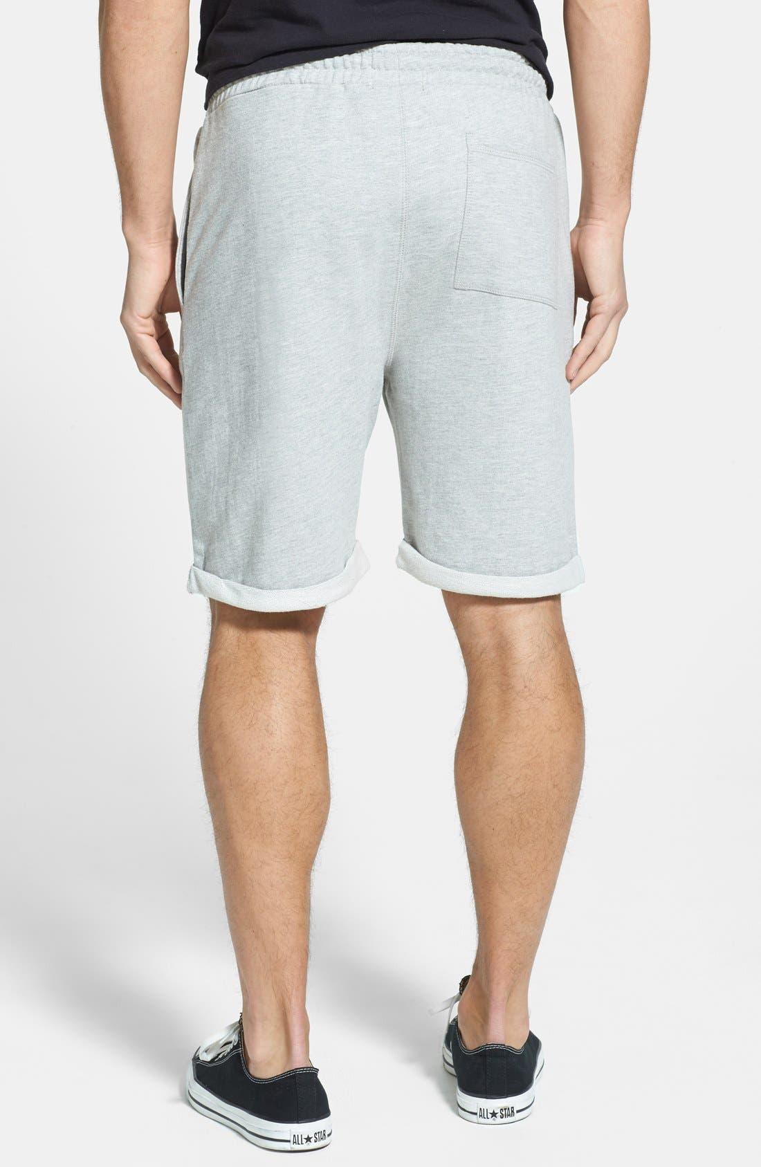 Alternate Image 2  - Topman  Trim Fit Jersey Sweatshorts
