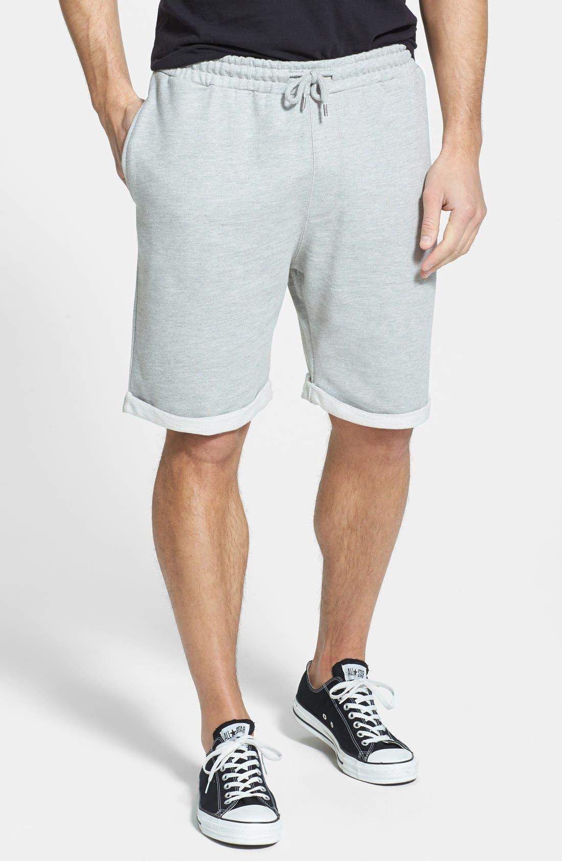 Main Image - Topman  Trim Fit Jersey Sweatshorts