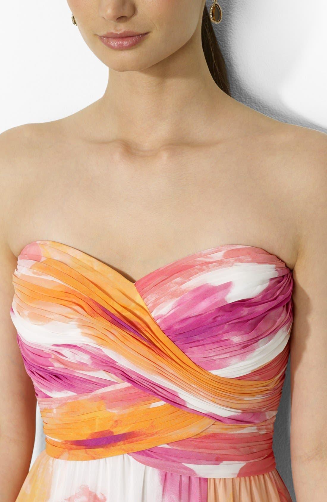 Alternate Image 3  - Lauren Ralph Lauren Floral Print Strapless Gown