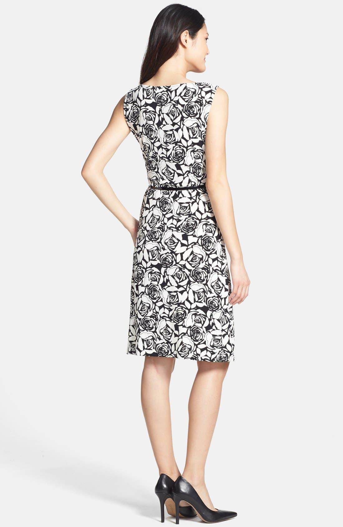 Alternate Image 2  - Anne Klein Belted Rose Print Dress