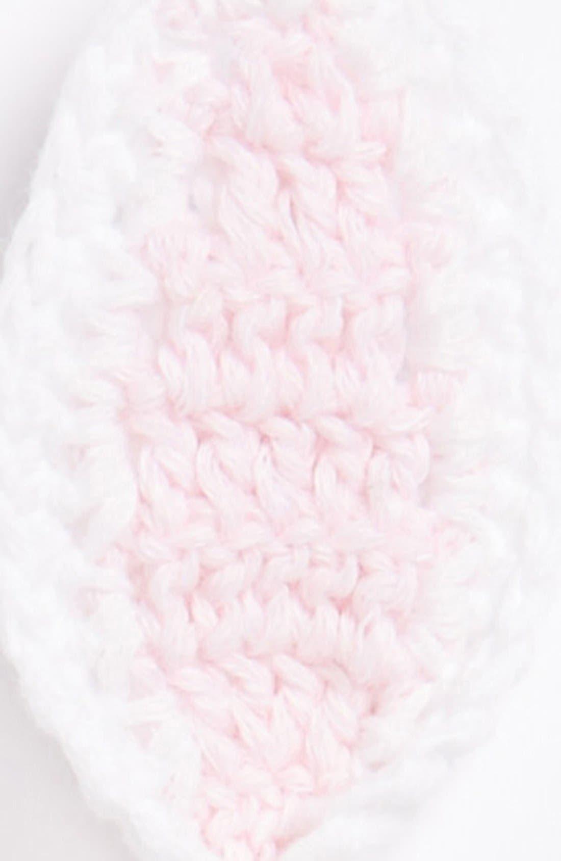 Alternate Image 2  - Mud Pie 'Bunny' Crochet Hat (Baby Girls)
