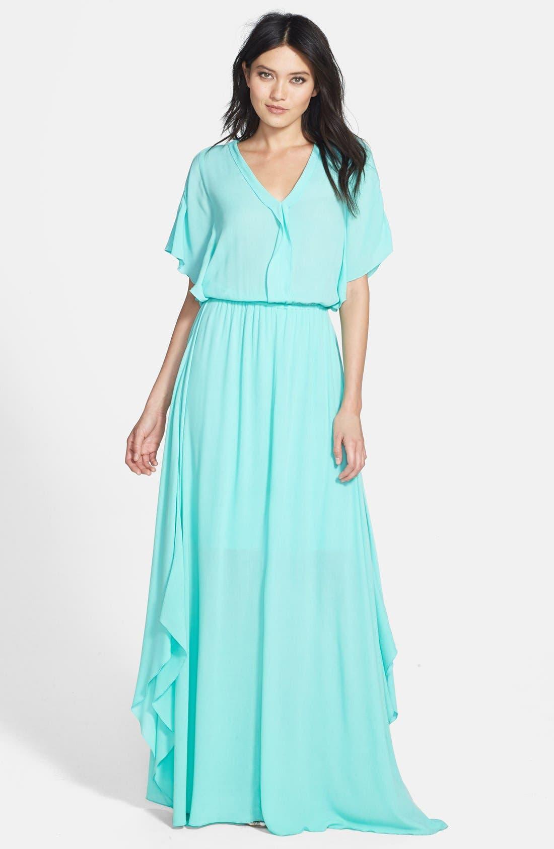 Alternate Image 1 Selected - Ella Moss 'Stella' Ruffle Blouson Maxi Dress