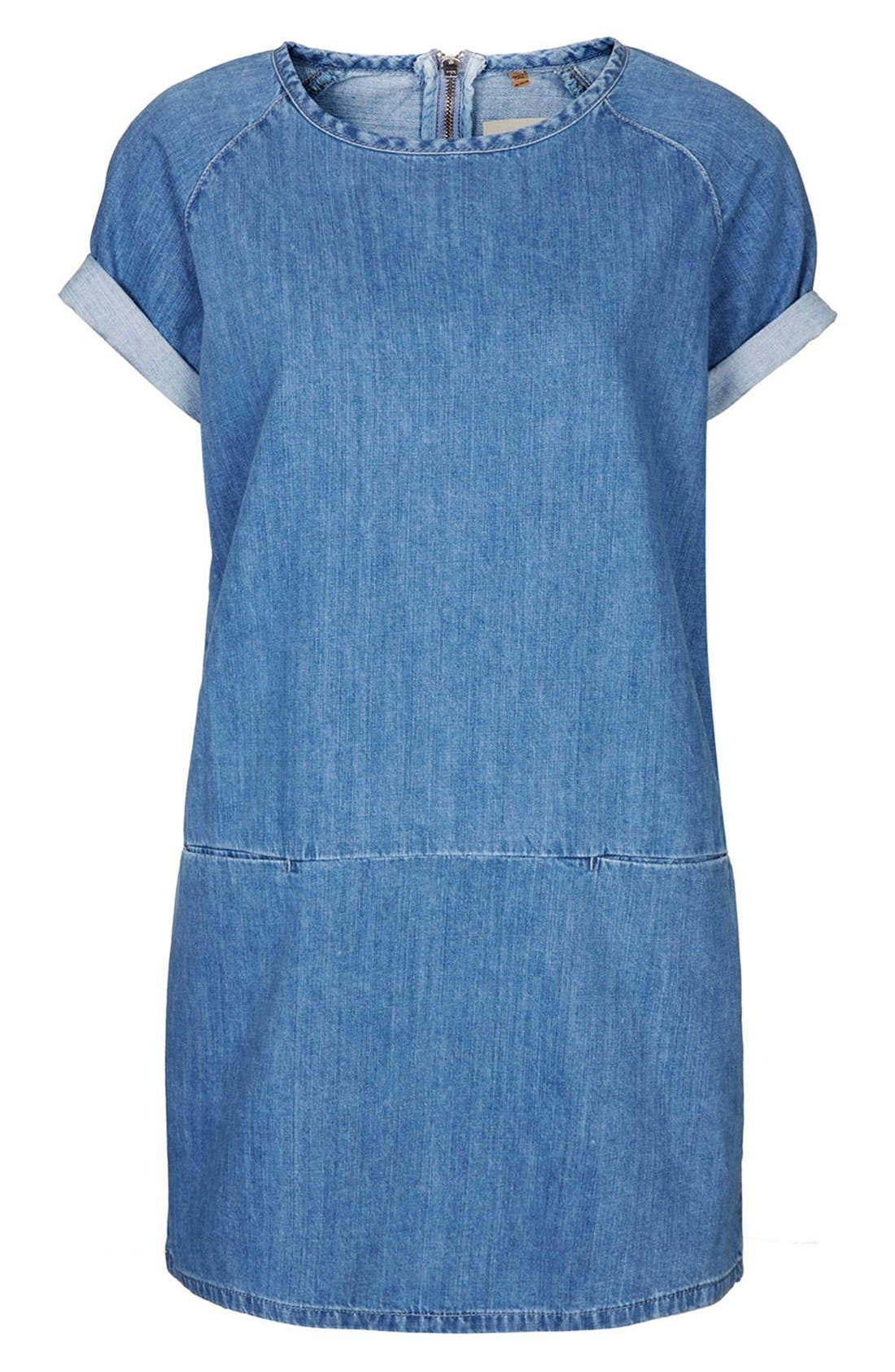 Alternate Image 3  - Topshop Moto Denim T-Shirt Dress (Petite)