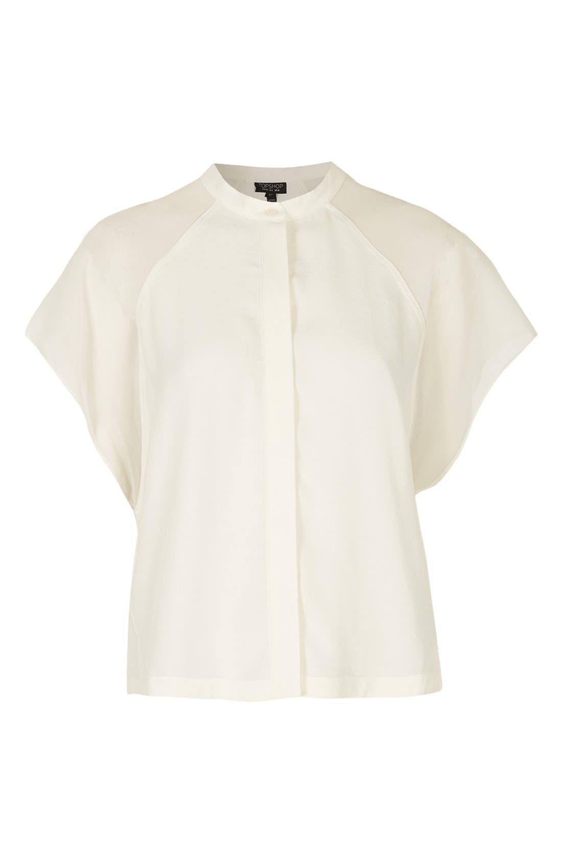 Alternate Image 3  - Topshop Sheer Raglan Sleeve Shirt