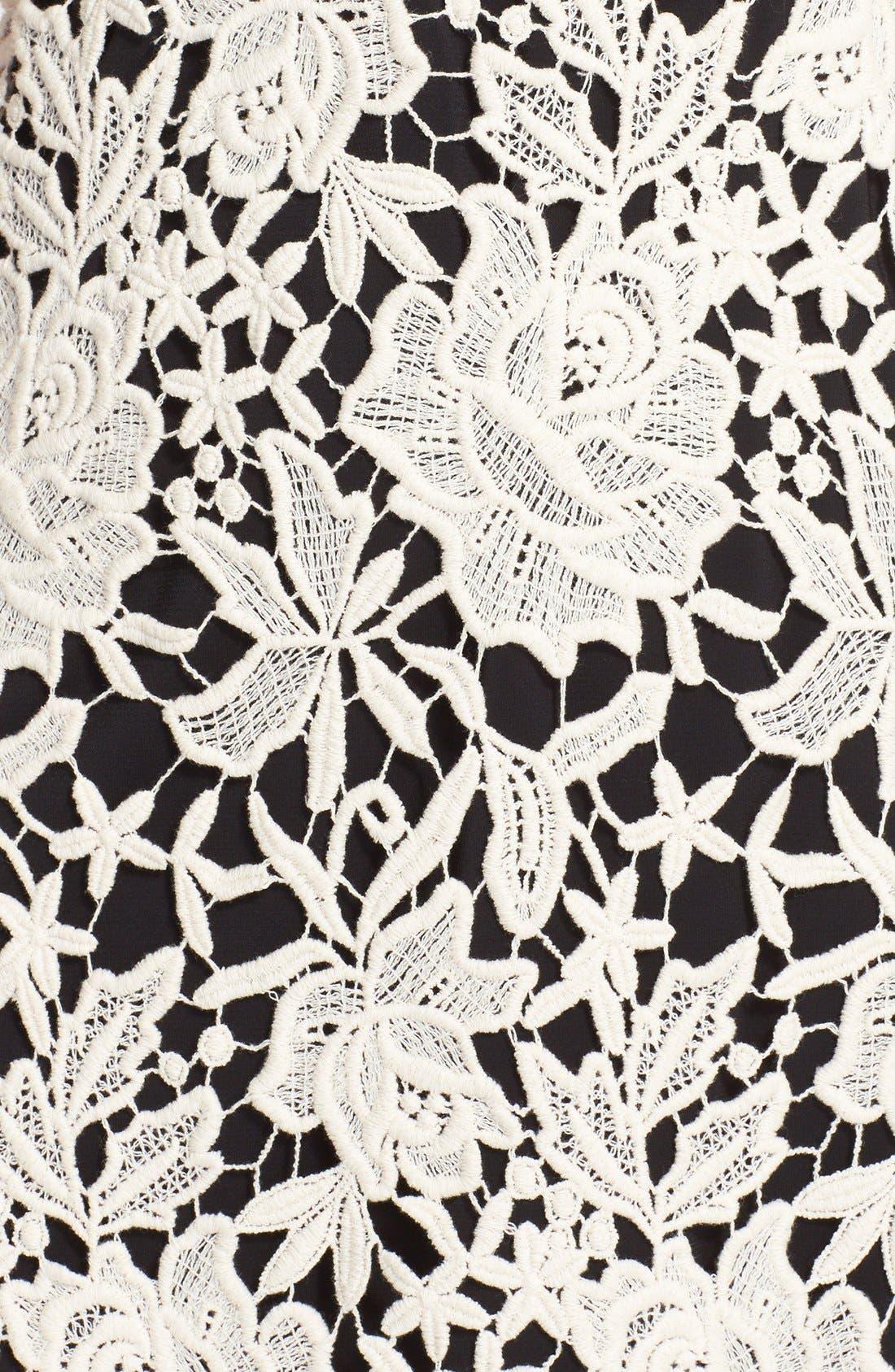 Alternate Image 3  - Alice + Olivia 'Jolie' Cotton Lace Dress